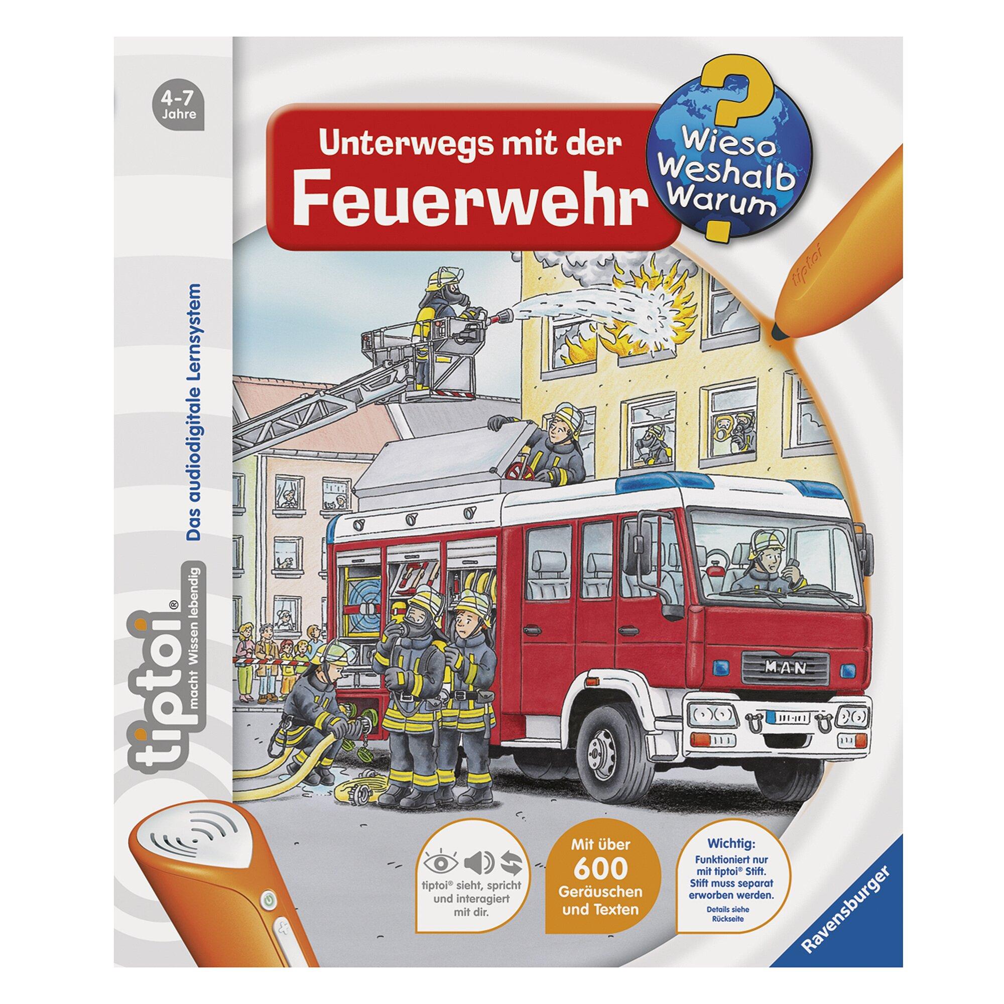 Tiptoi Sachbuch-Unterwegs mit der Feuerwehr