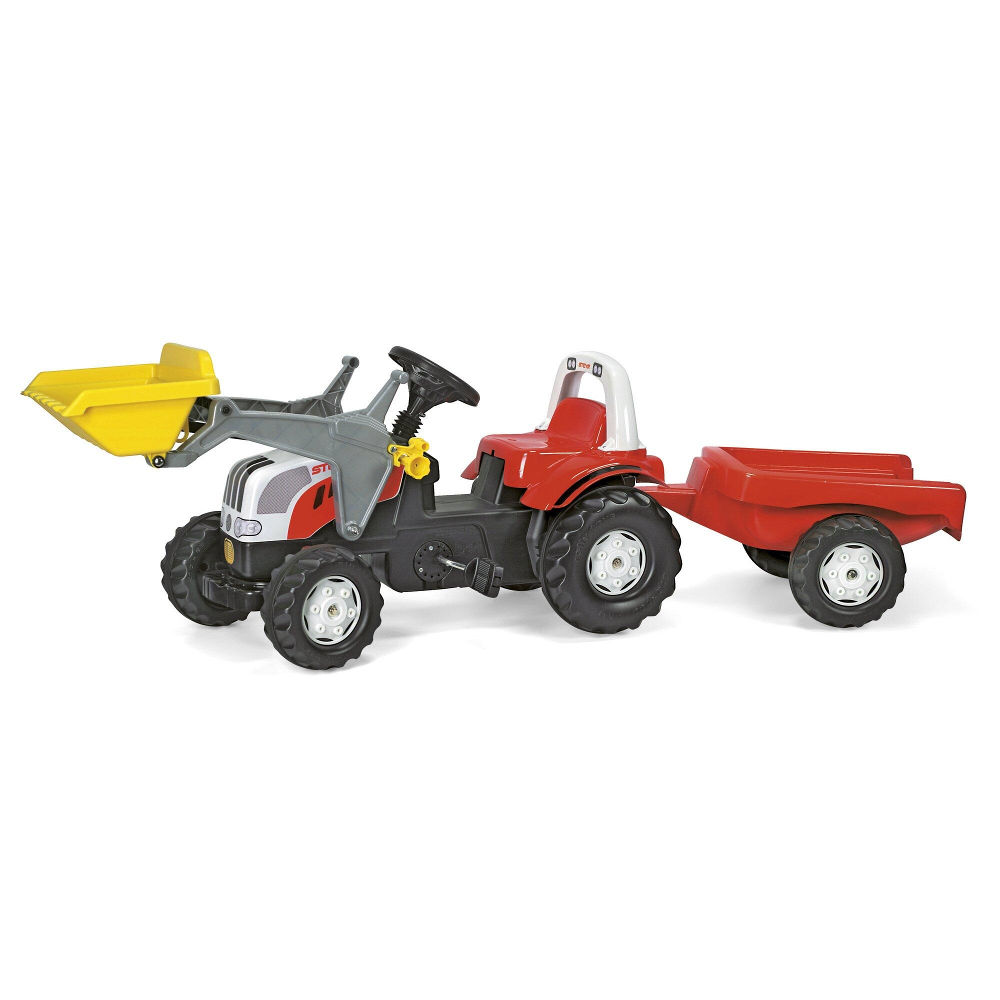 rolly-toys-trettraktor-rollykid-steyr-mit-anhanger