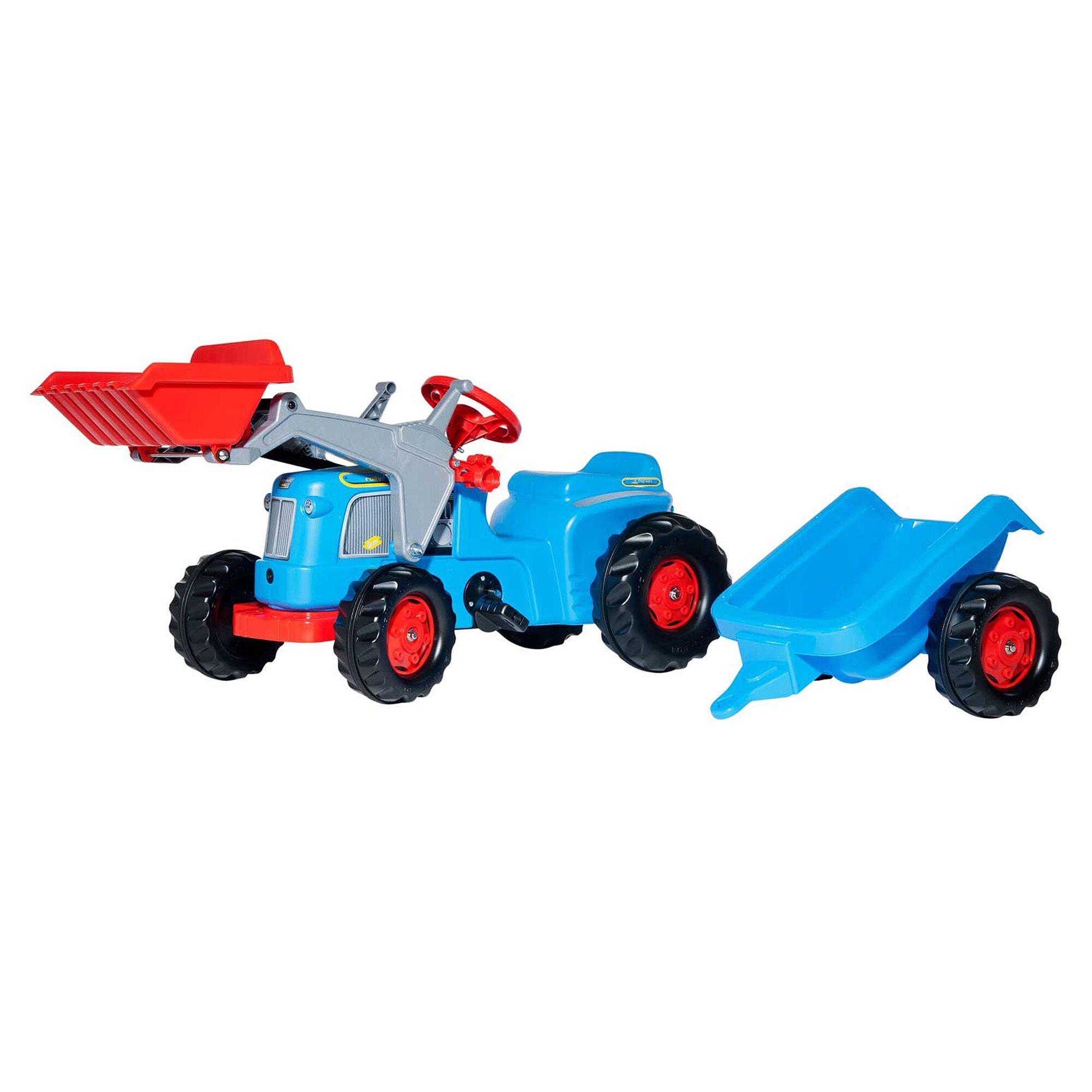Rolly Toys® Trettraktor Rolly Kiddy Classic mit Frontlader und Anhänger