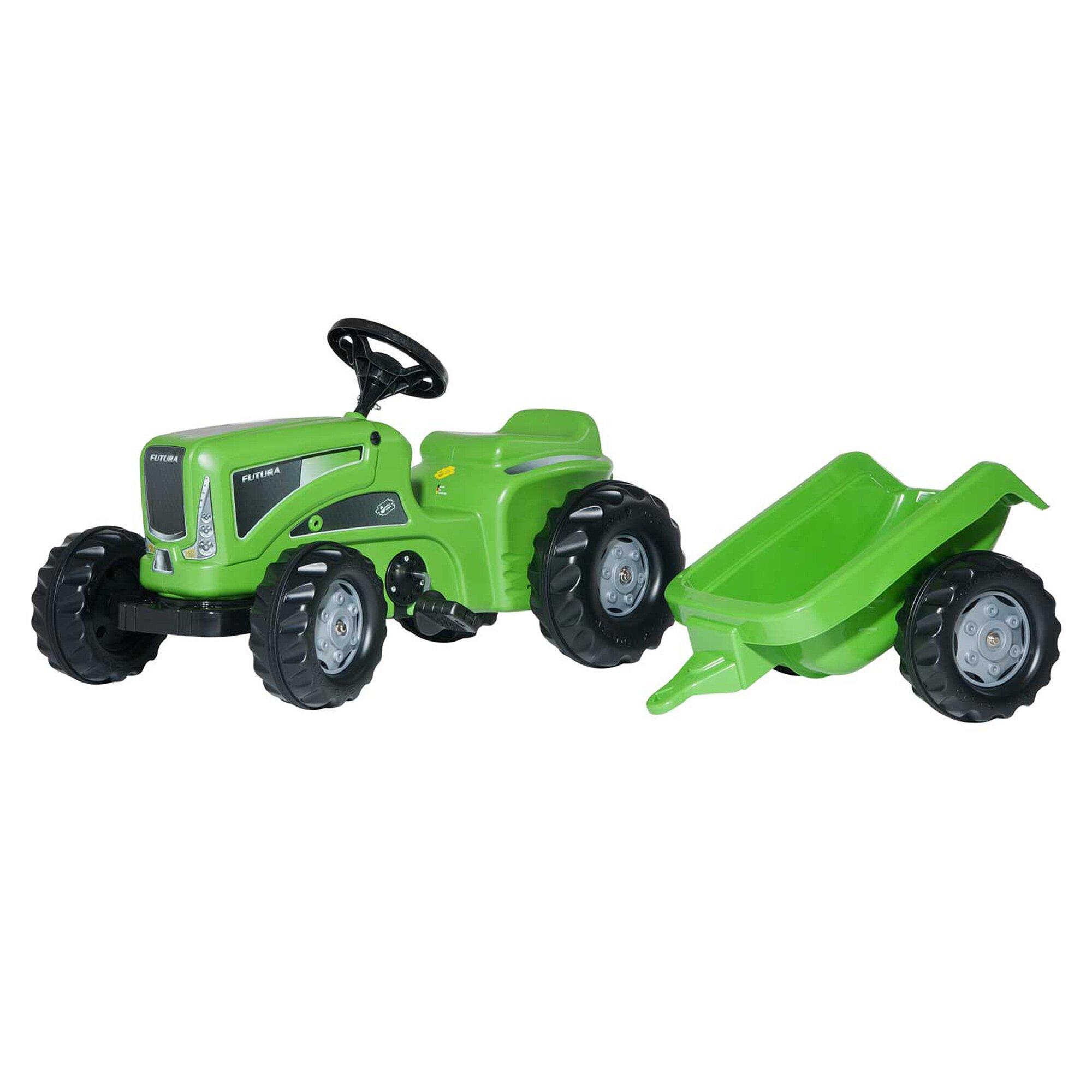 Rolly Toys® Trettraktor Rolly Kiddy Futura mit Anhänger