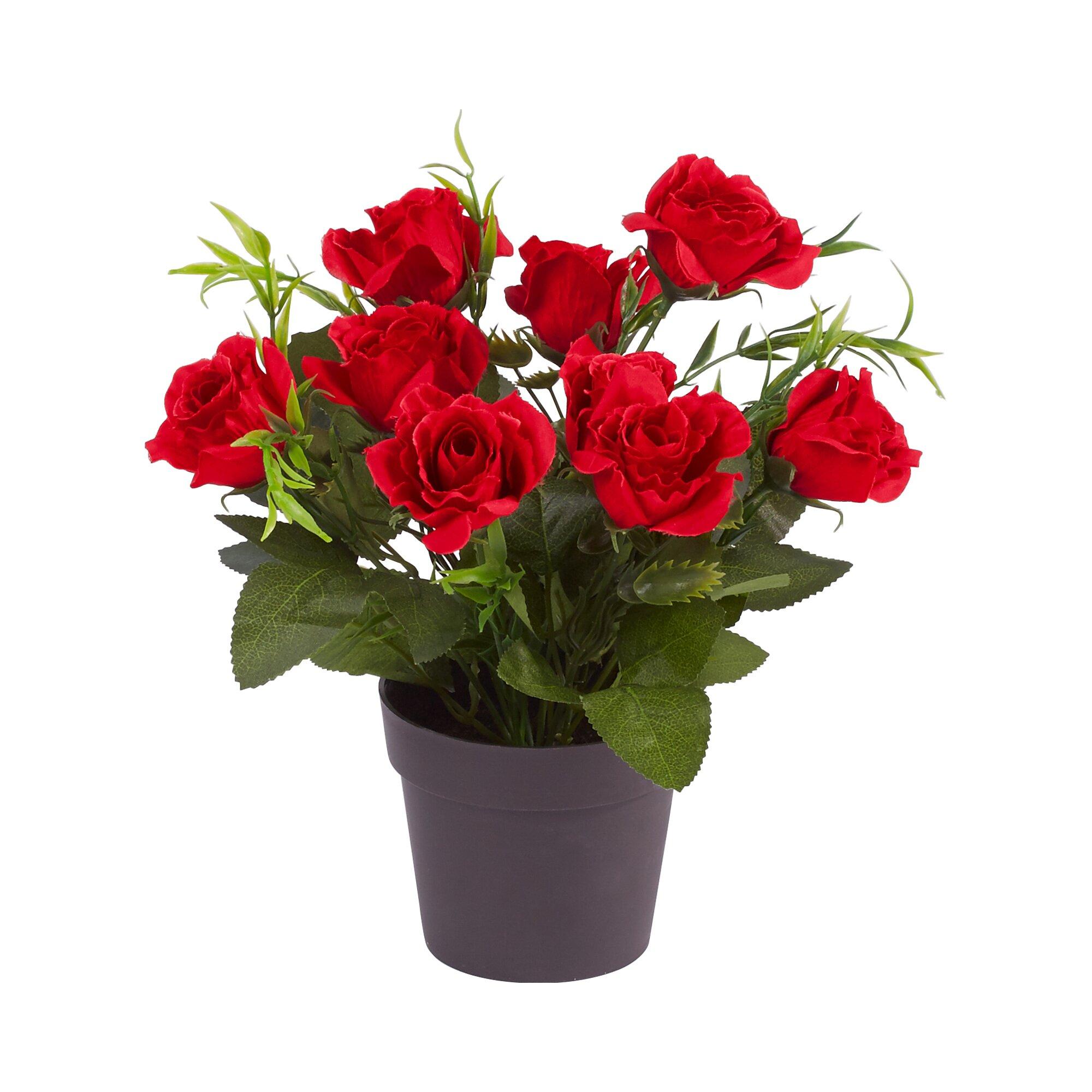 "Image of Blumengesteck ""Rose"", rot"