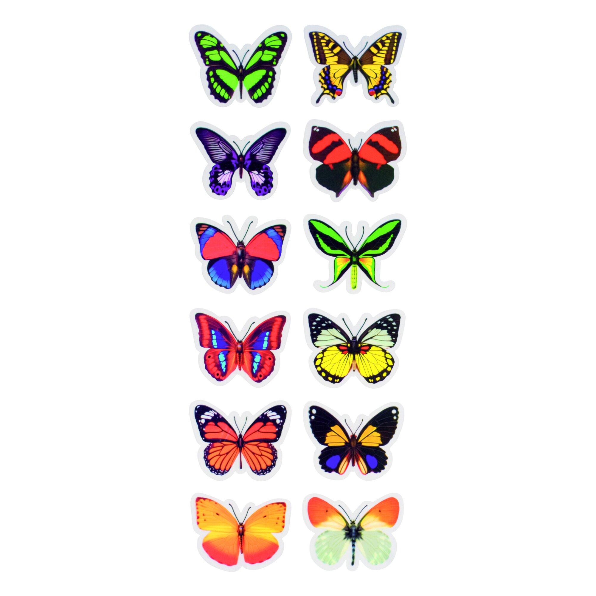 """Image of 3D-Dekosticker """"Schmetterlinge"""", 12 Stück"""
