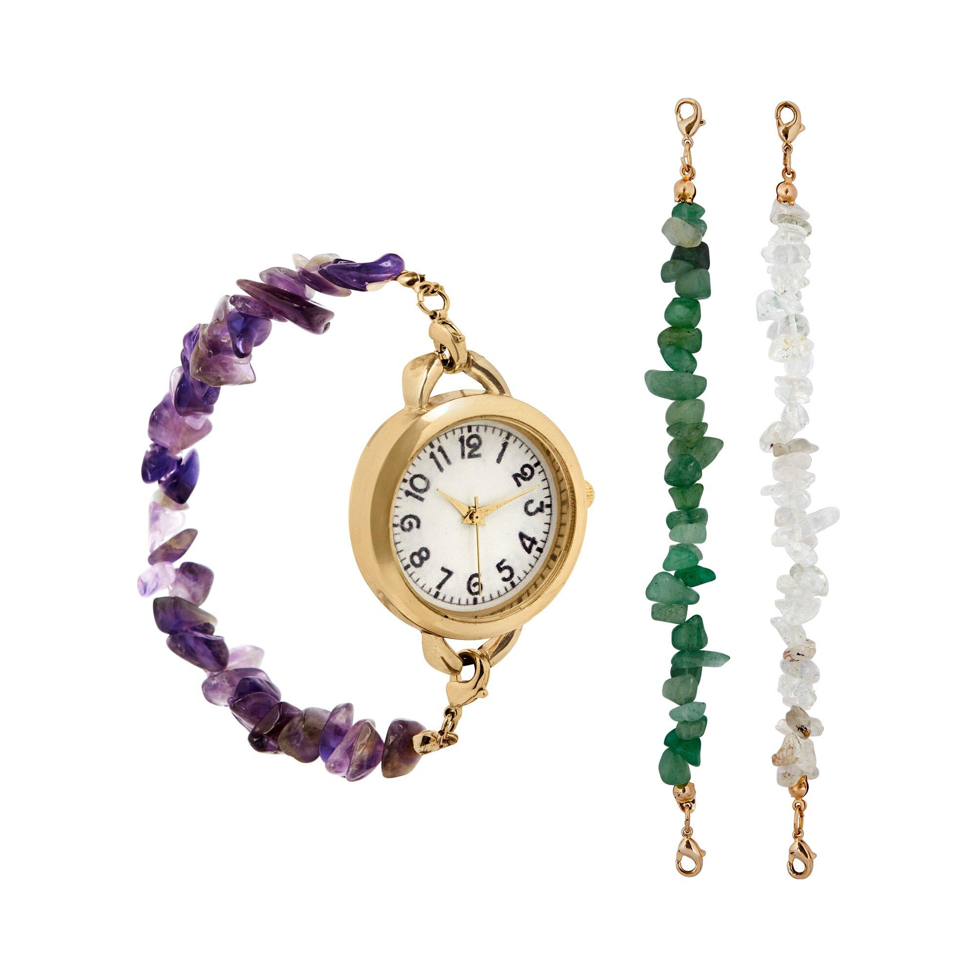 Image of Armbanduhr mit Edelstein-Wechselbändern