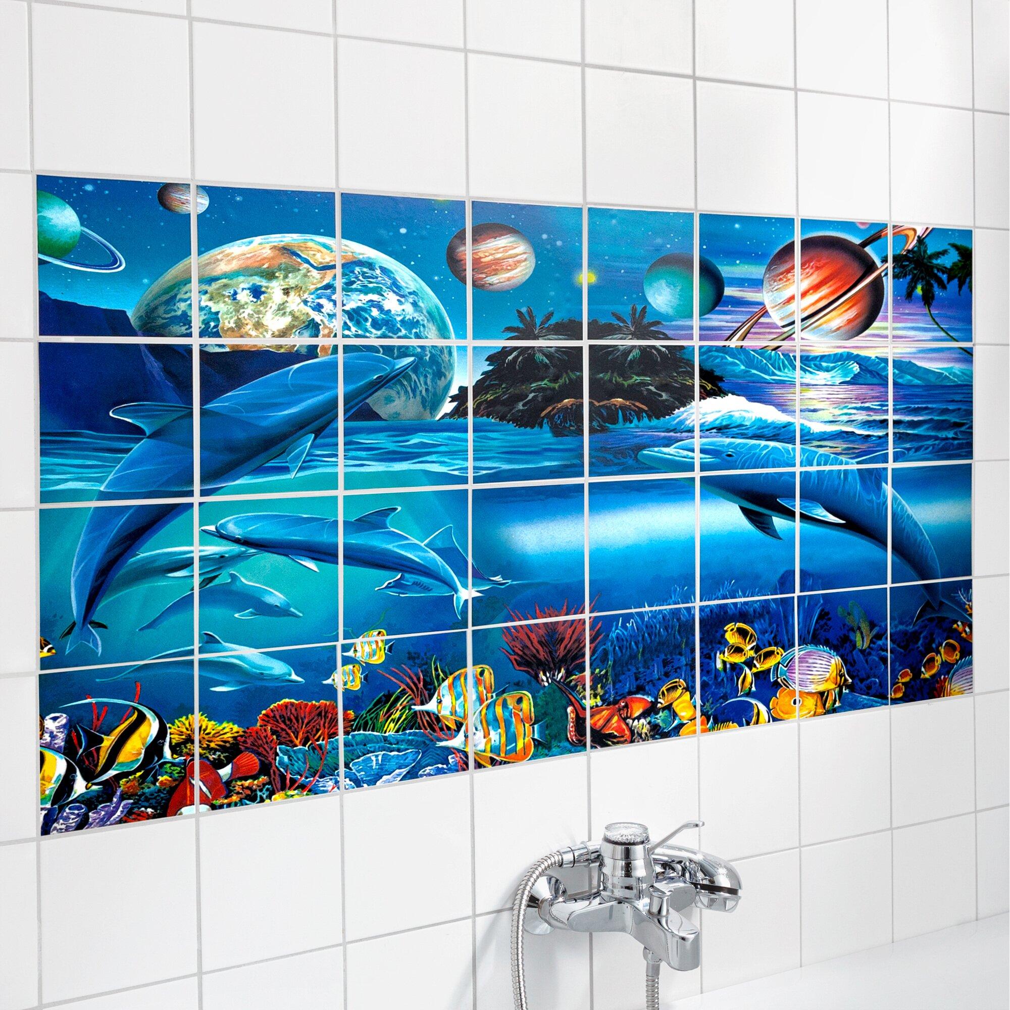"""Image of Fliesen-Sticker """"Unterwasser-Welt"""", 32 Teile"""