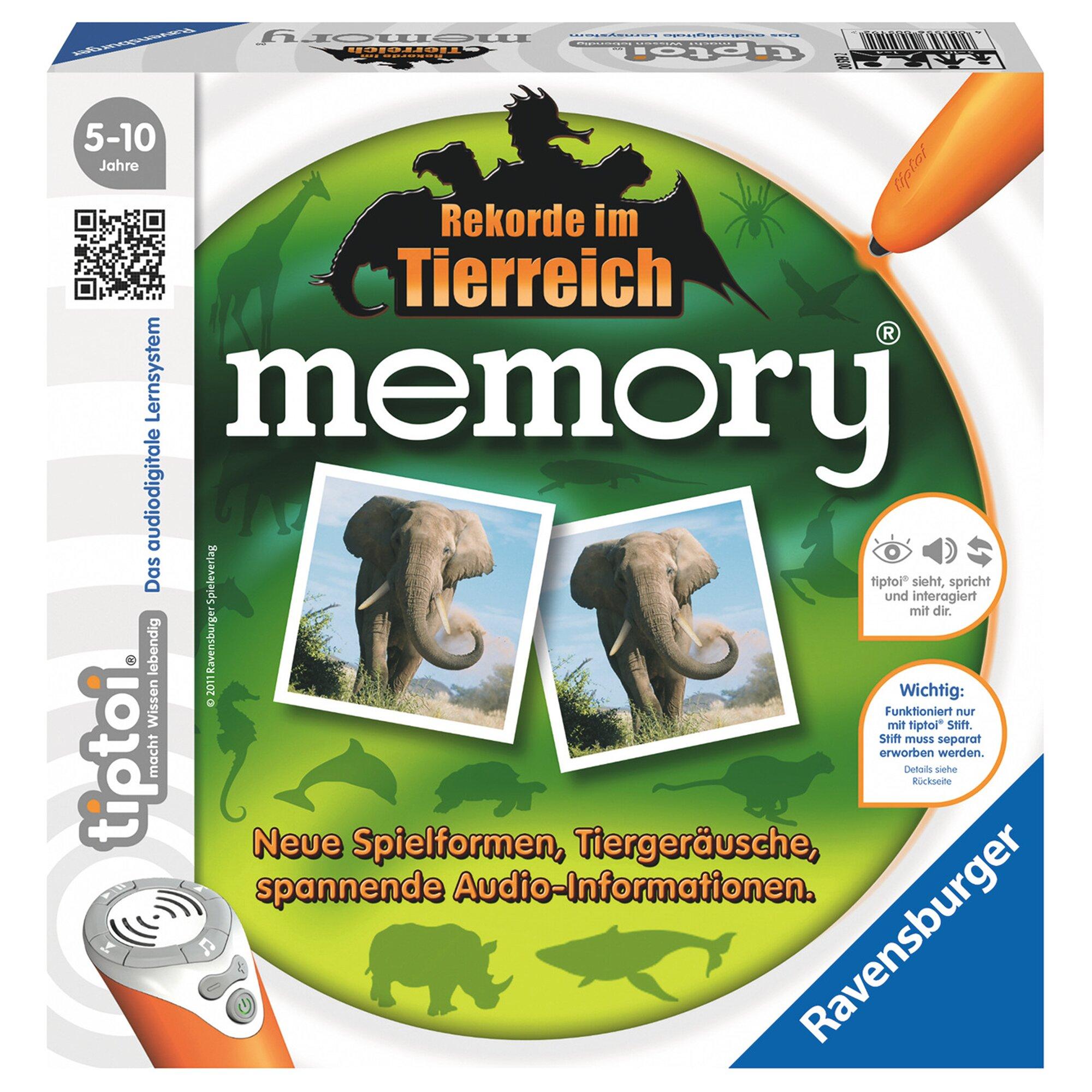 Tiptoi tiptoi® memory Rekorde im Tierreich, Legespiel