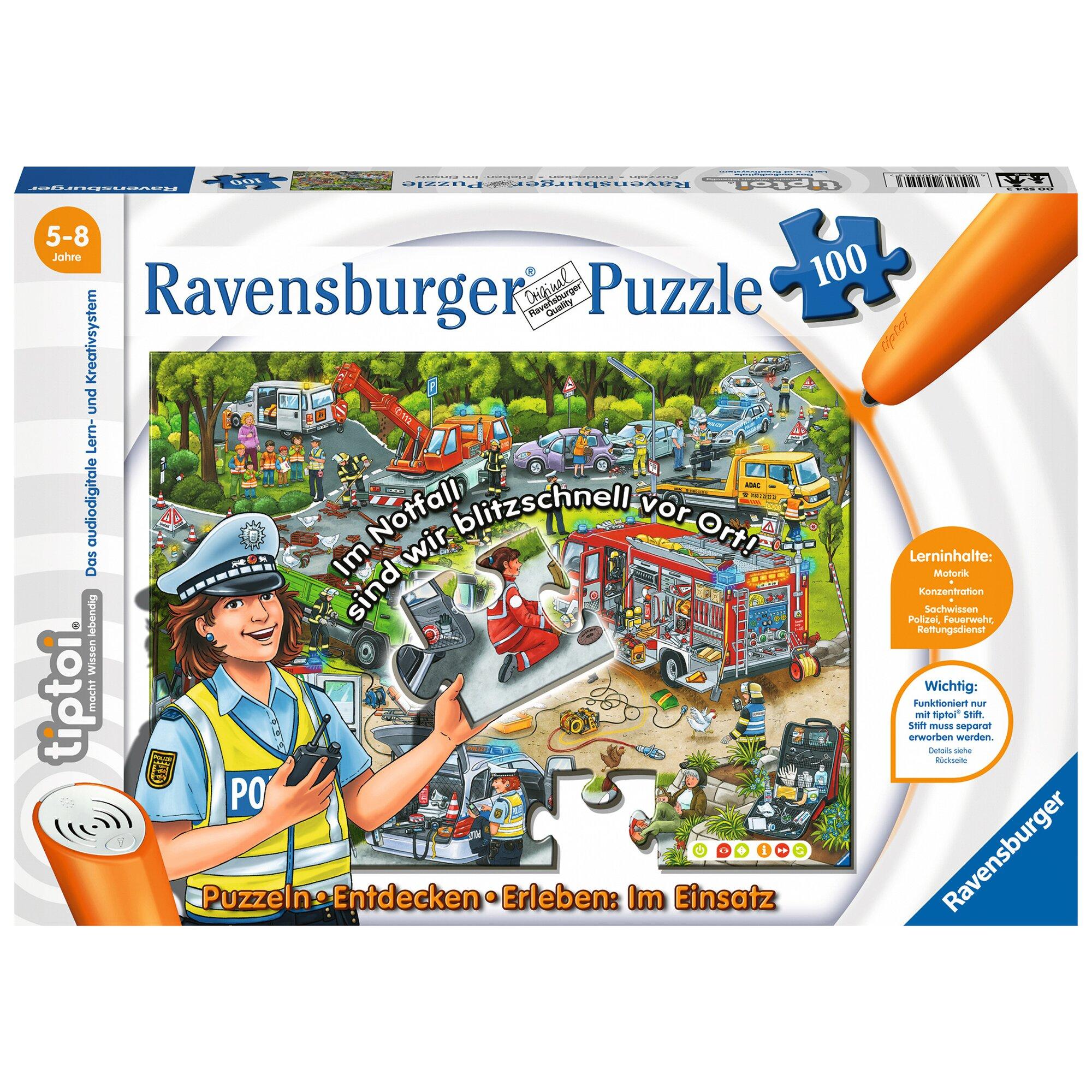 Tiptoi Puzzle, 100 Teile, Puzzlen, Entdecken, Erleben: Im Einsatz
