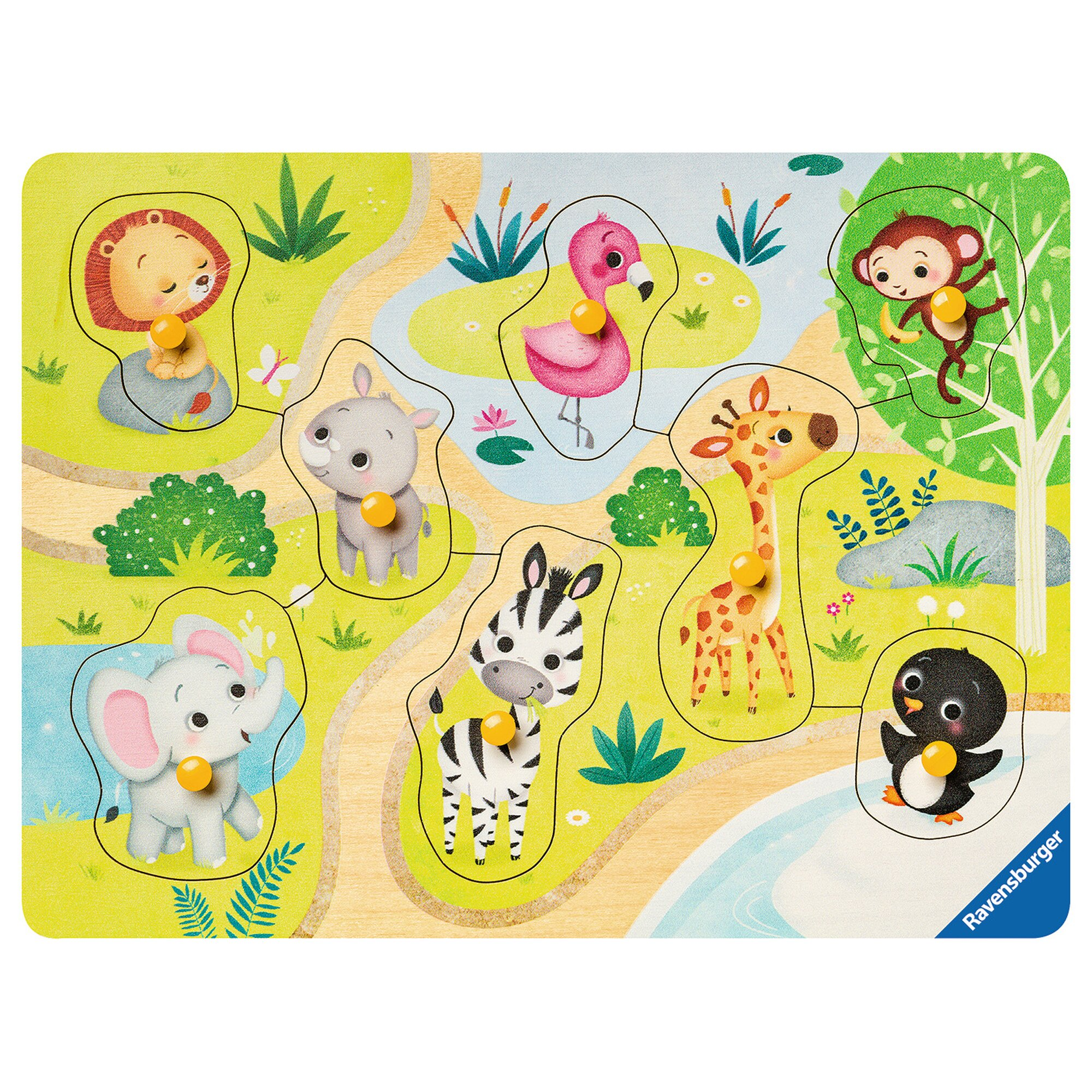 ravensburger-my-first-wooden-puzzles-8-teile-unterwegs-im-zoo, 9.99 EUR @ babywalz-de