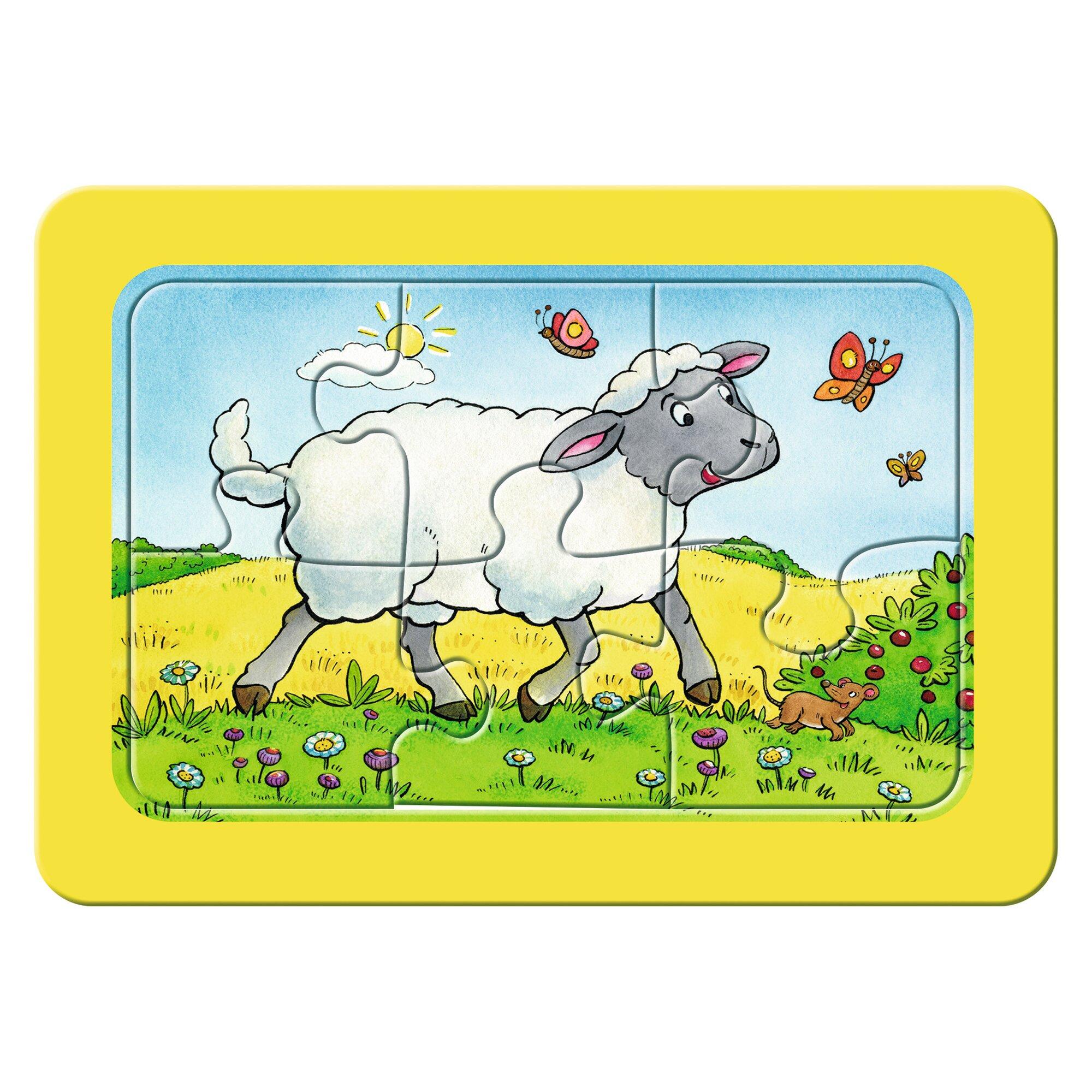 ravensburger-my-first-puzzles-3x6-6-teile-esel-schaf-und-ziege, 9.99 EUR @ babywalz-de