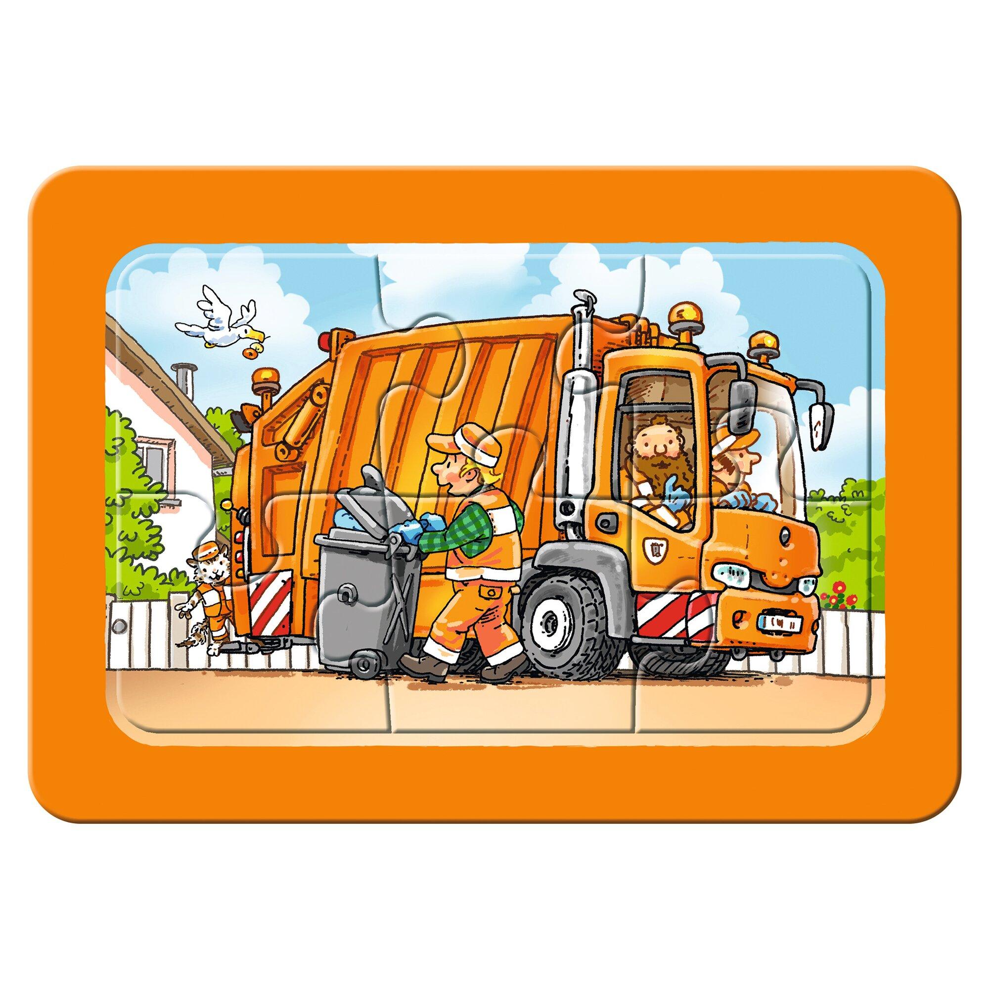 ravensburger-my-first-puzzles-3x6-6-teile-mullabfuhr-krankenwagen-abschleppwagen, 9.99 EUR @ babywalz-de