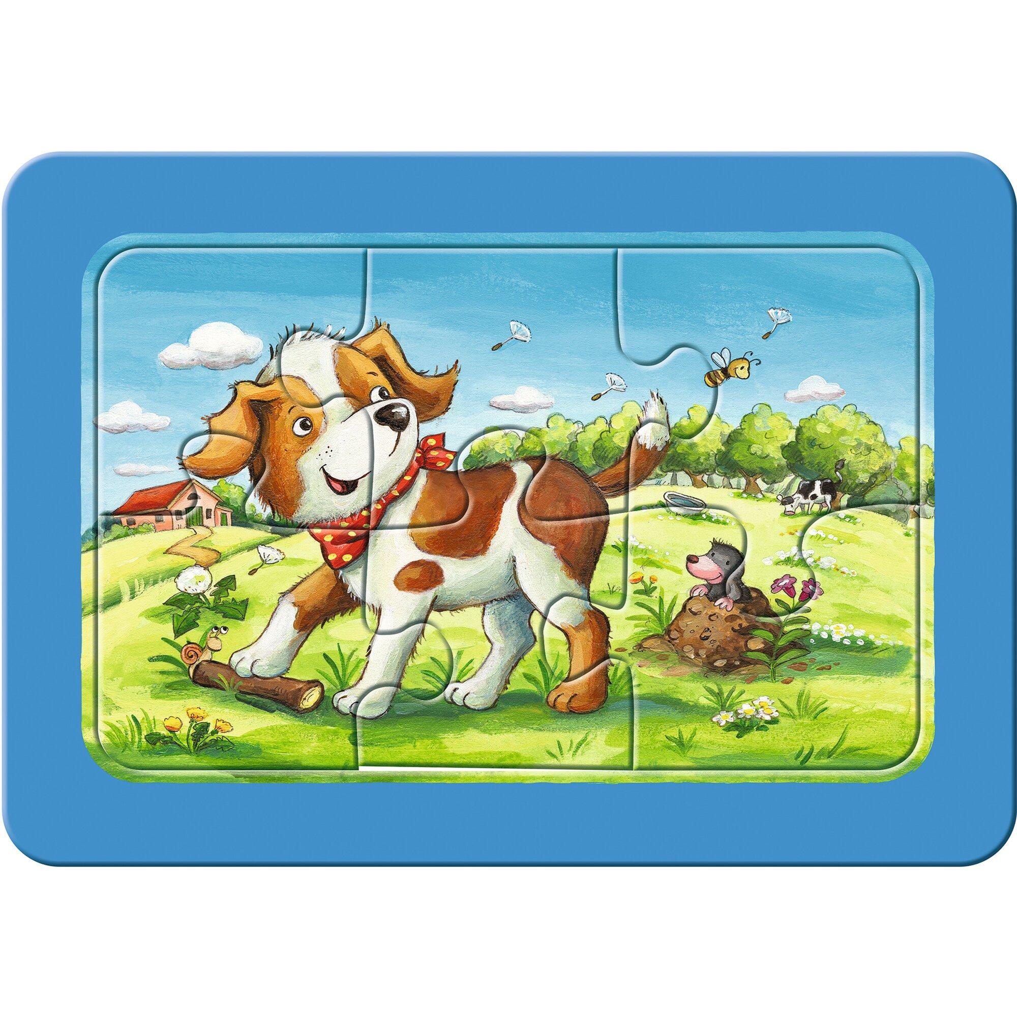 ravensburger-my-first-puzzles-3x6-6-teile-meine-tierfreunde