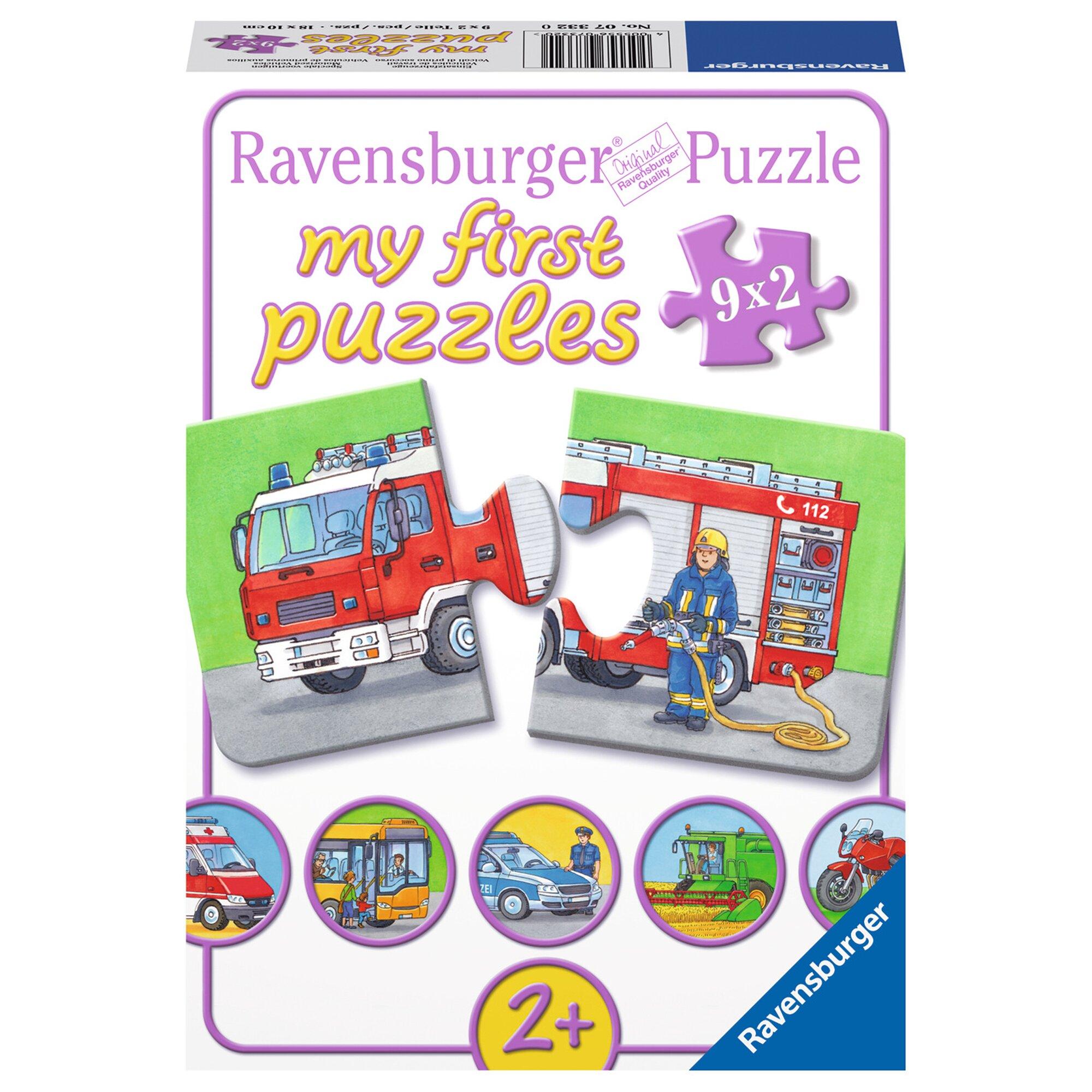 Ravensburger my first puzzles 9x2 2 Teile, Einsatzfahrzeuge
