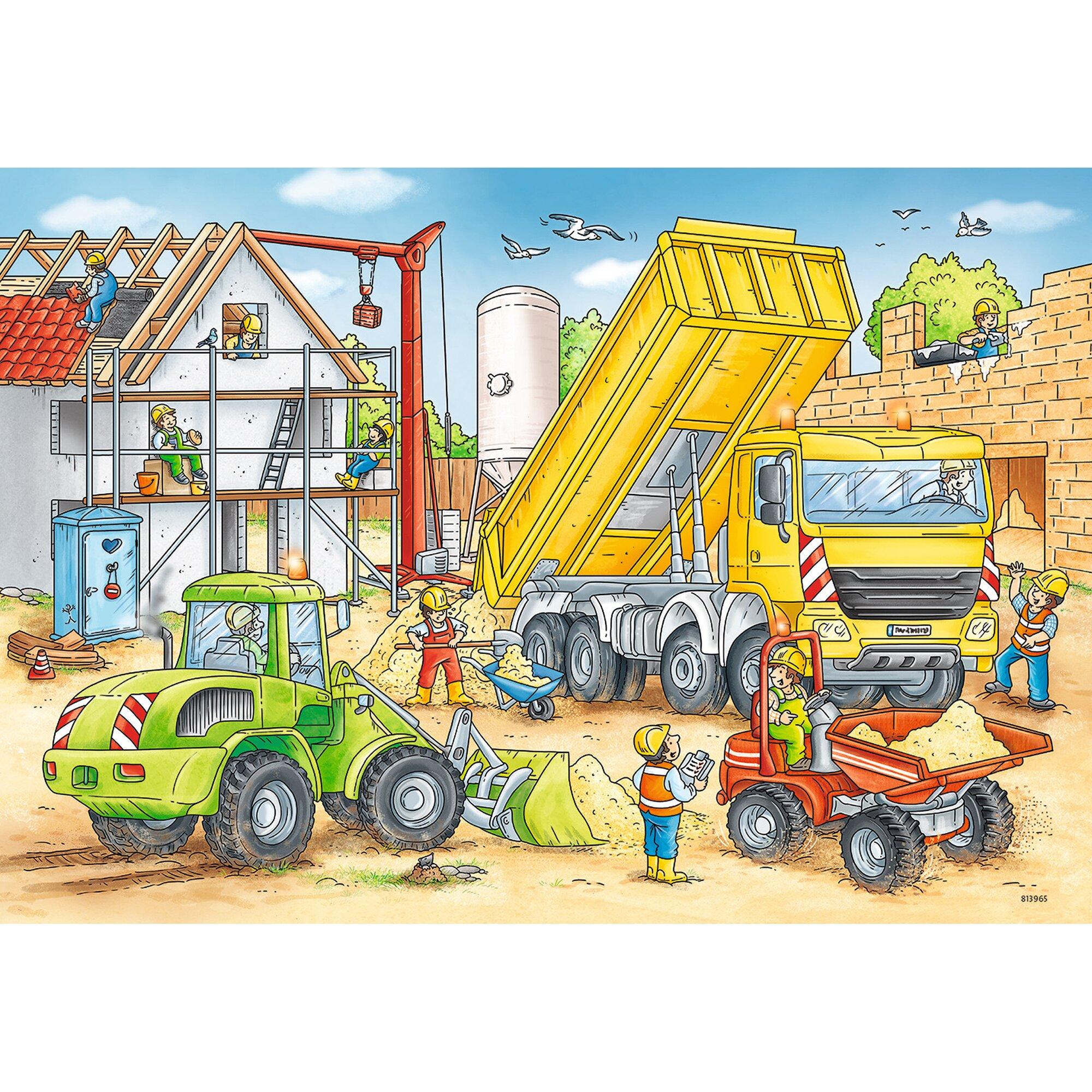 ravensburger-zwei-kinderpuzzles-inkl-mini-postern-24-teile-viel-zu-tun-auf-der-baustelle