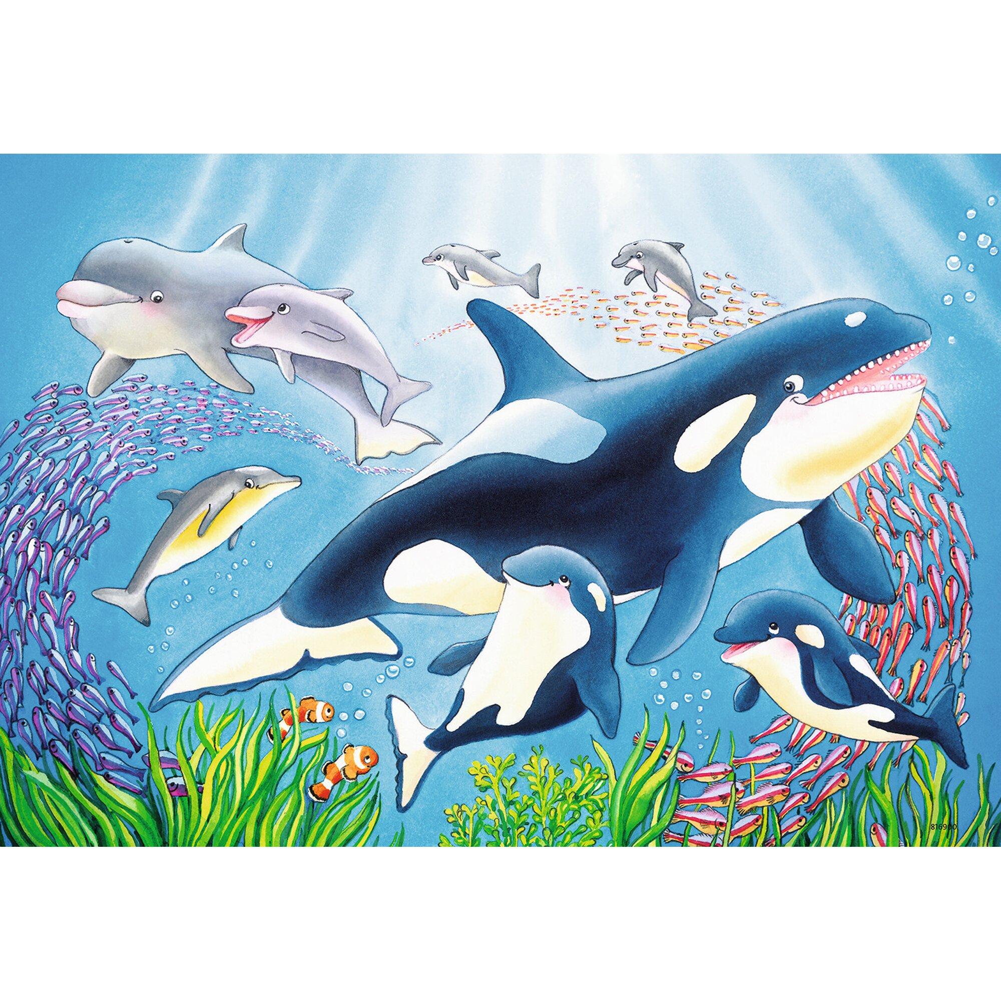 ravensburger-zwei-kinderpuzzles-inkl-mini-postern-kunterbunte-unterwasserwelt
