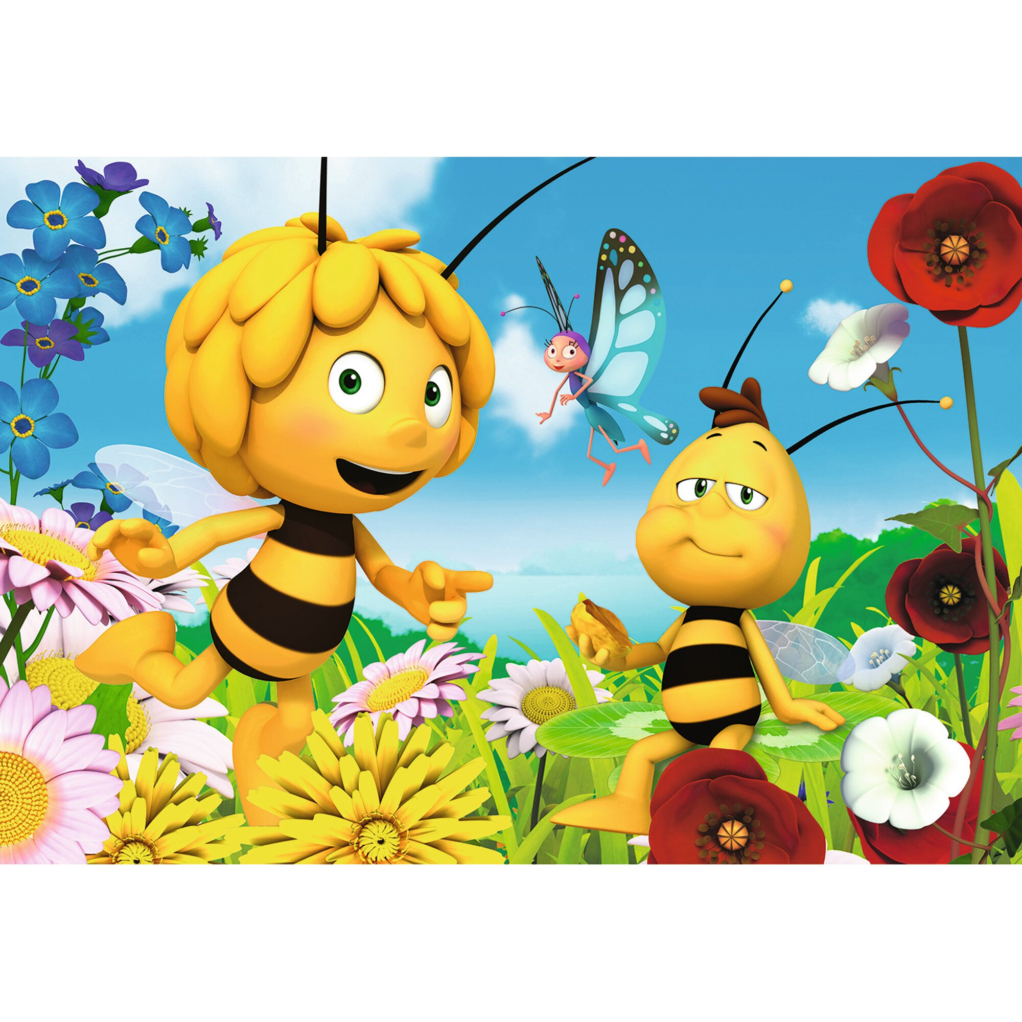 ravensburger-zwei-kinderpuzzles-inkl-mini-postern-24-teile-biene-maja-und-ihre-freunde, 9.99 EUR @ babywalz-de