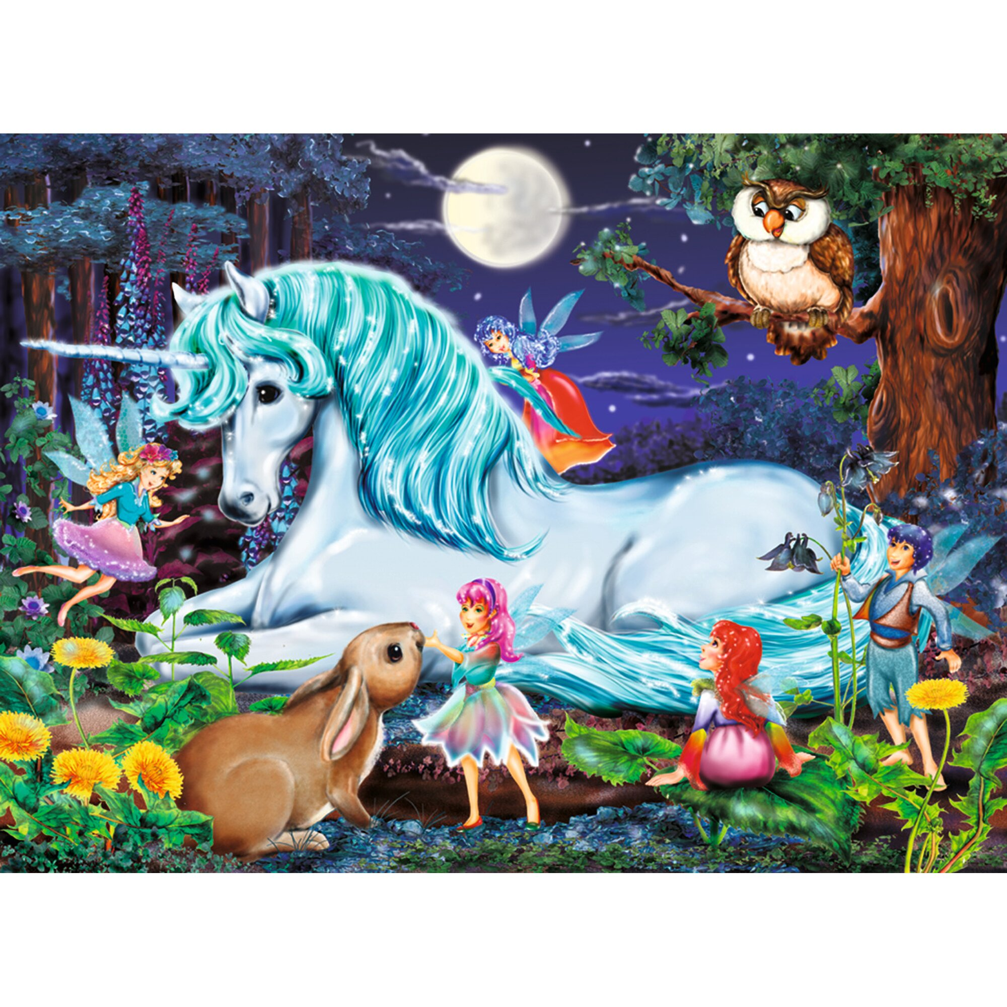 ravensburger-kinderpuzzle-im-xxl-format-100-teile-im-zauberwald