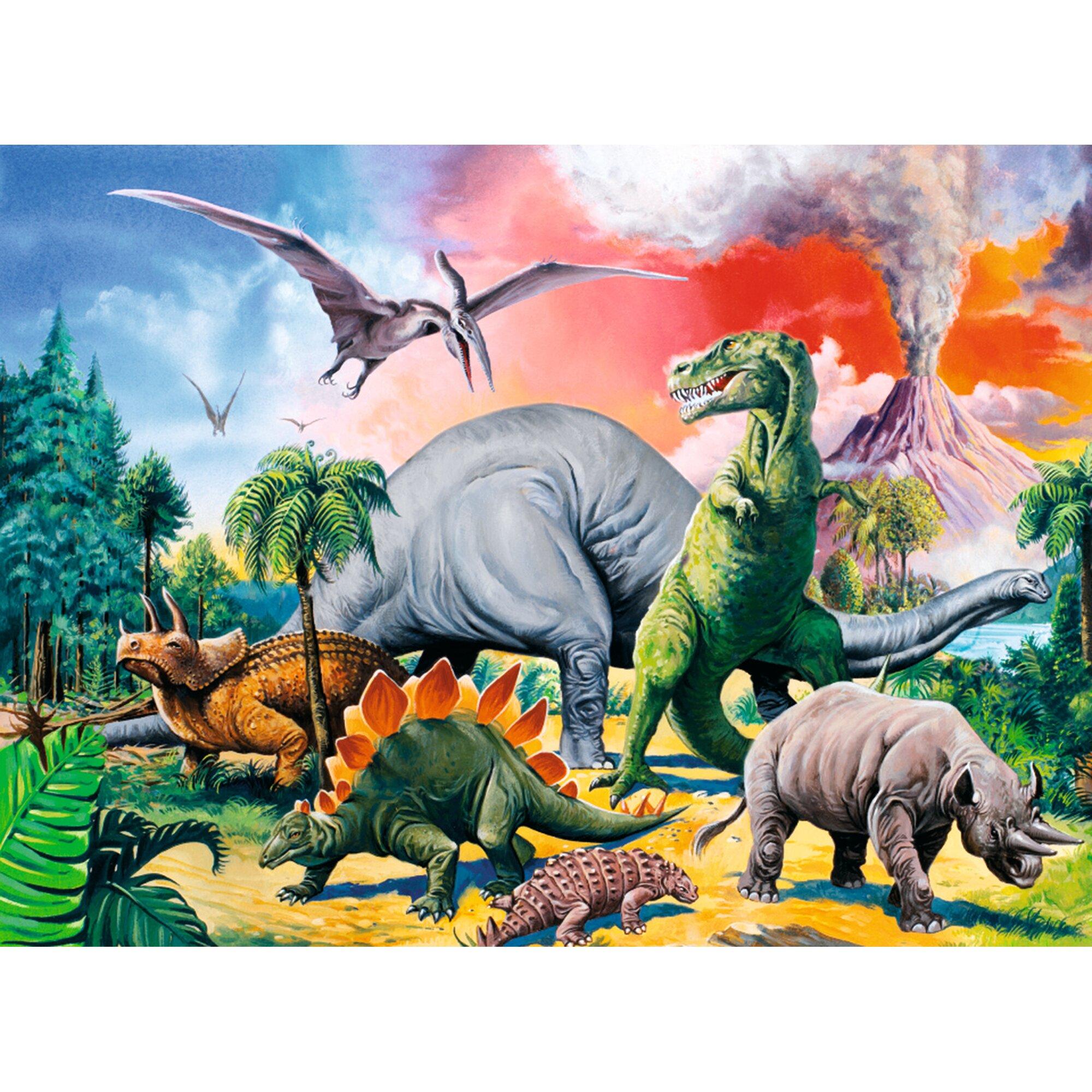 ravensburger-kinderpuzzle-im-xxl-format-100-teile-unter-dinosauriern