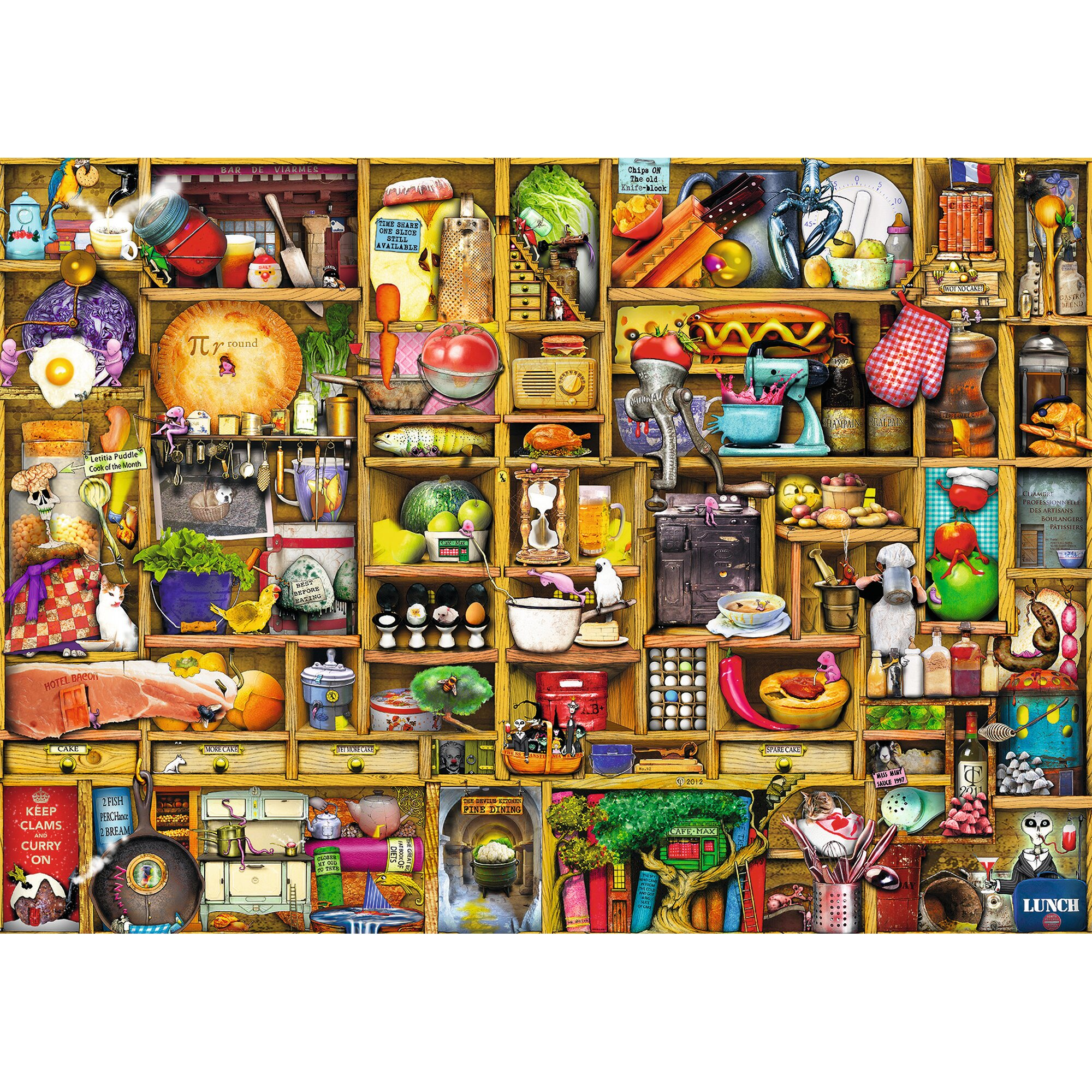 Premiumpuzzle im Standardformat 1.000 Teile, Kurioses Küchenregal