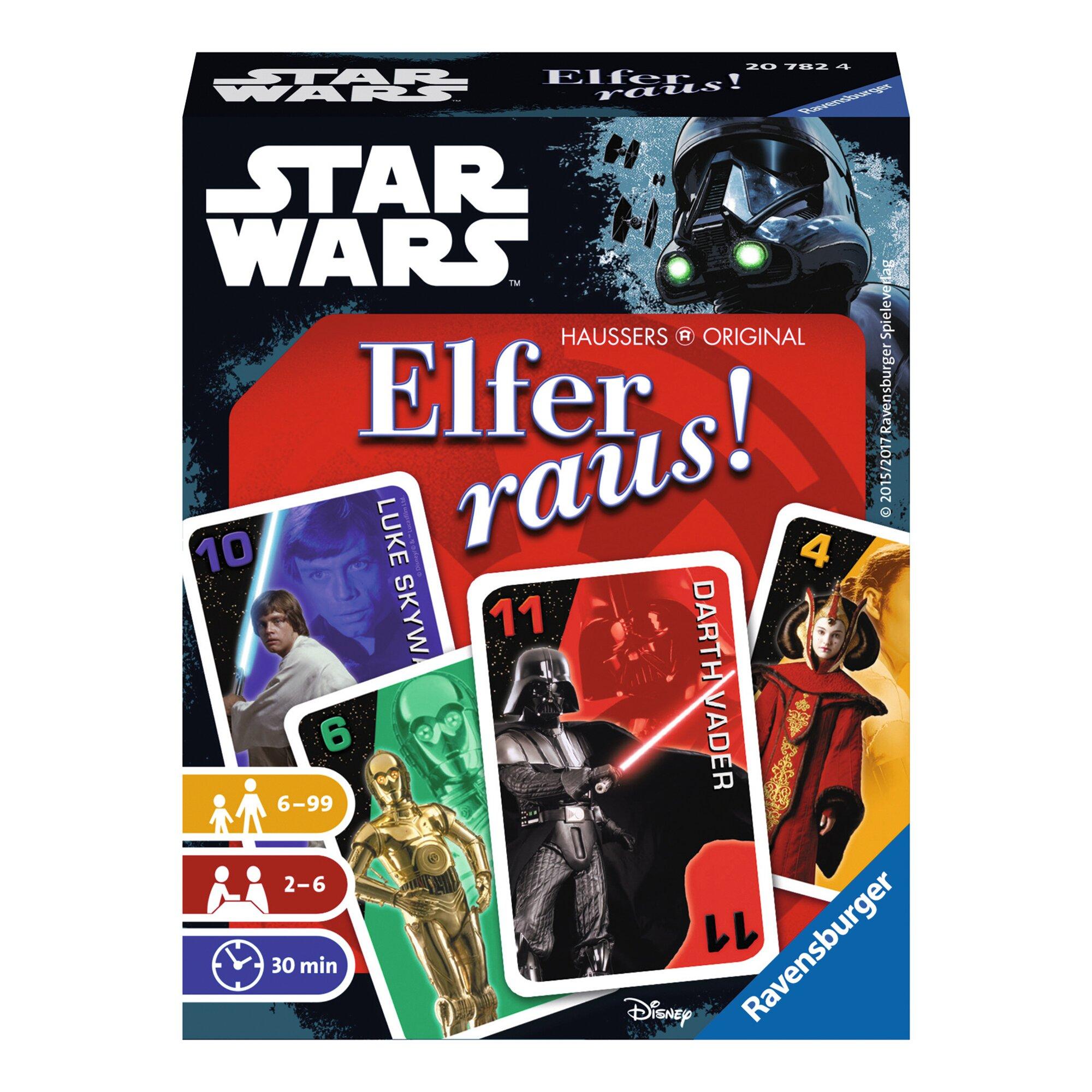 Ravensburger STAR WARS Elfer raus!, Kartenlegespiel