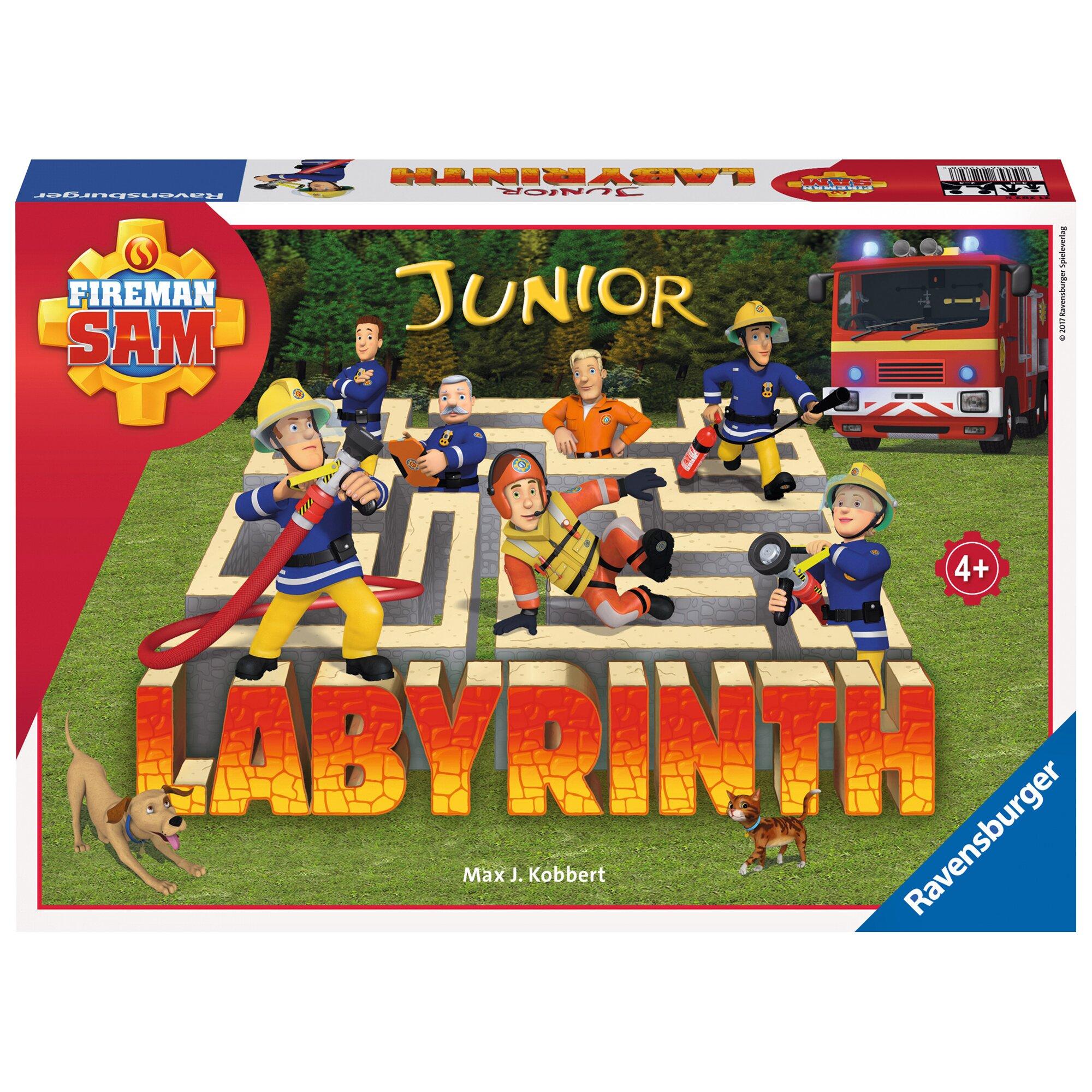 Ravensburger Fireman Sam Junior Labyrinth, Such-Schiebespiel