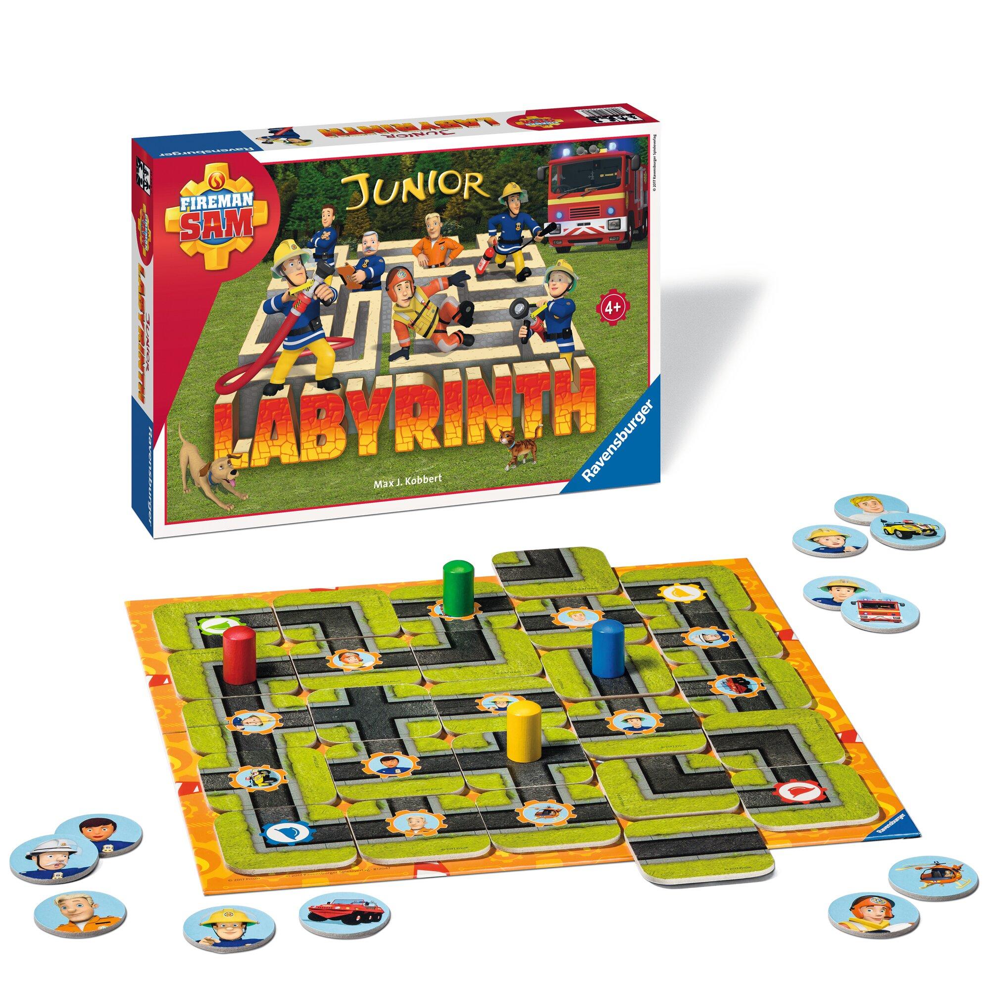 ravensburger-fireman-sam-junior-labyrinth-such-schiebespiel, 14.99 EUR @ babywalz-de