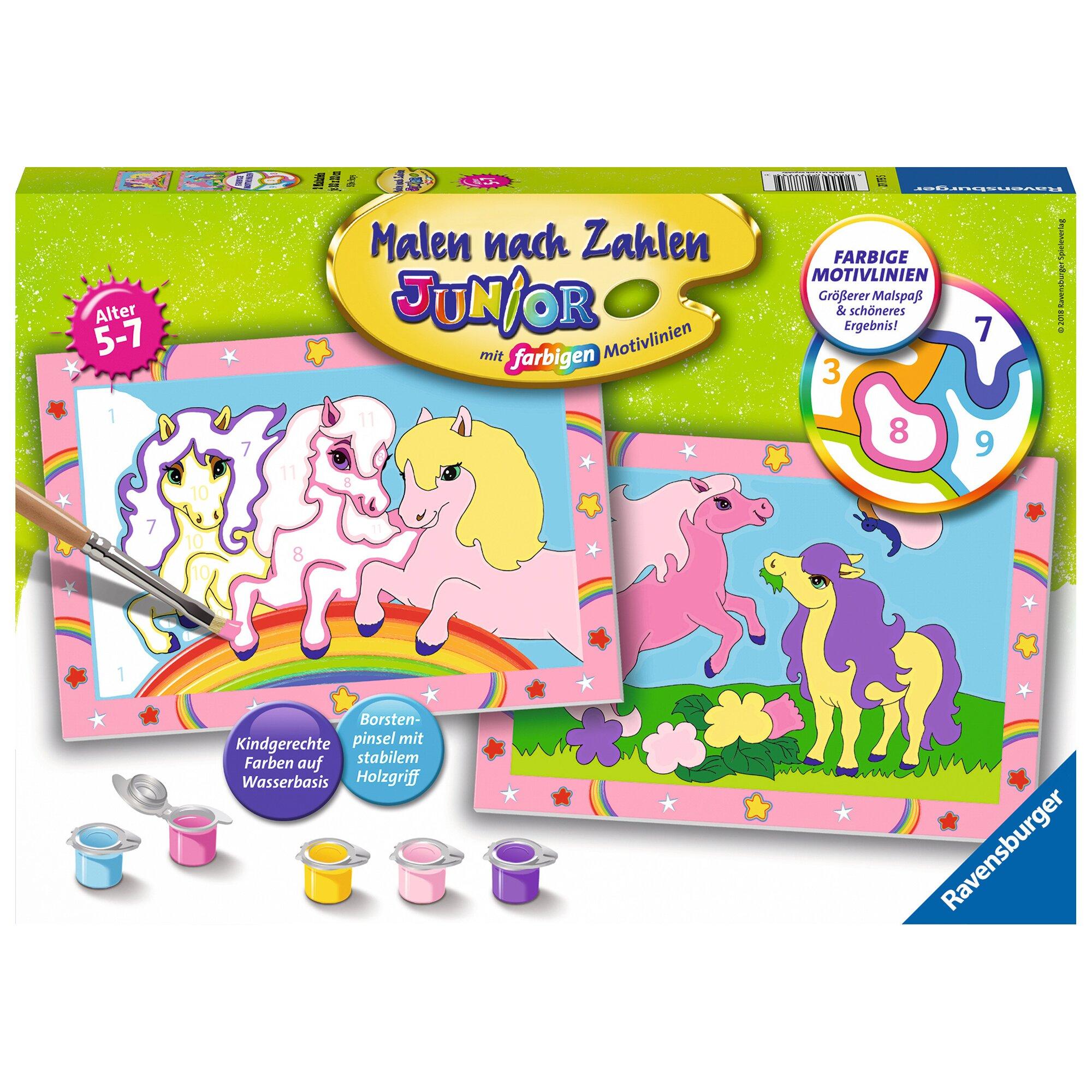 Ravensburger Malen nach Zahlen, Süße Ponys
