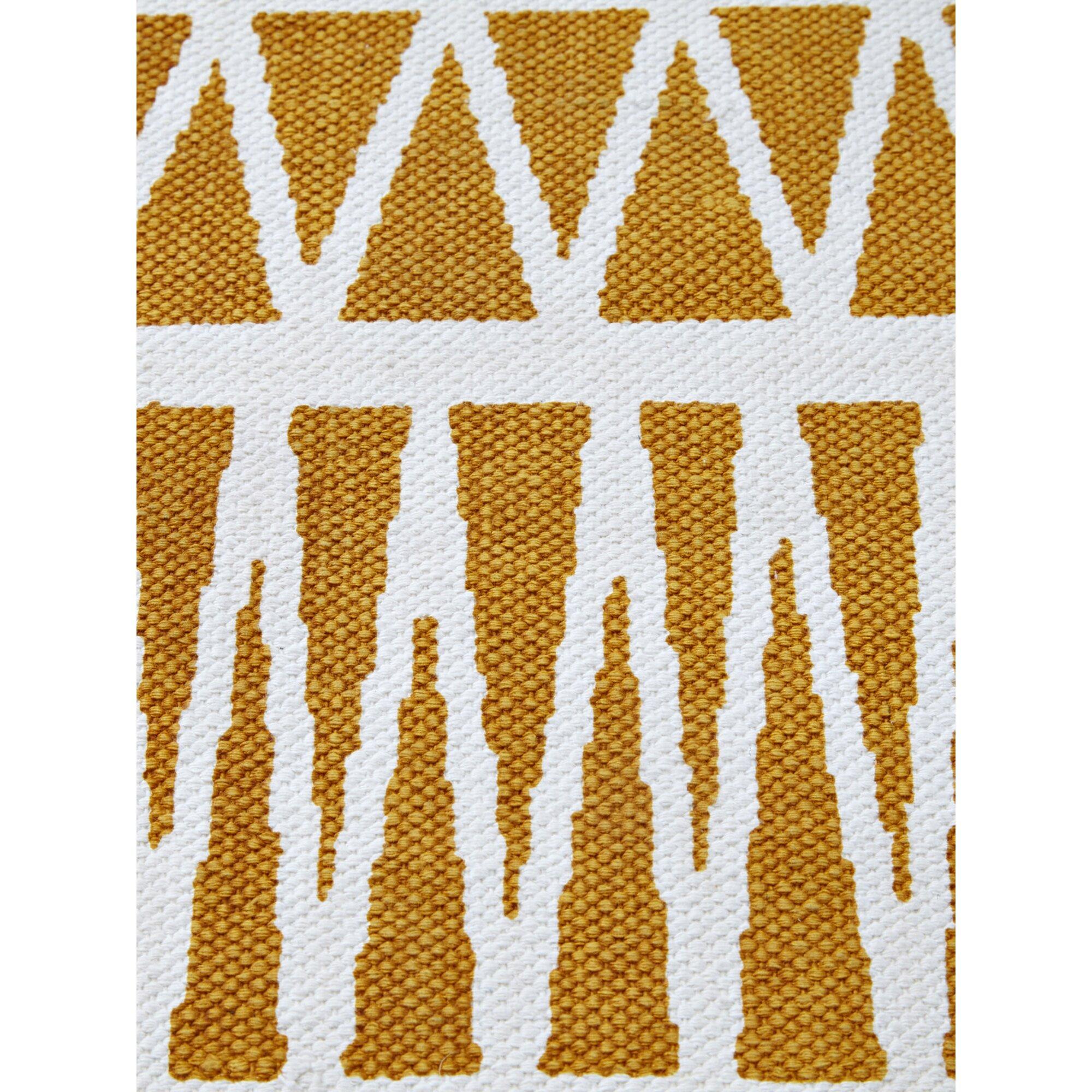 Vertbaudet Kinderzimmer-Teppich grafisches Muster gelb