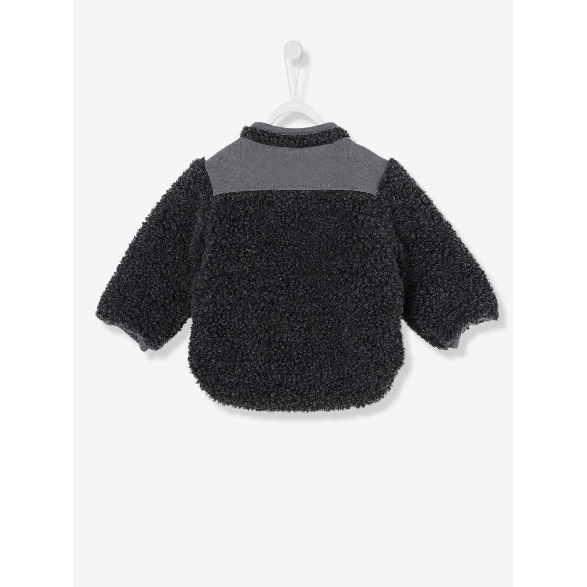 vertbaudet-cardigan-fur-baby-jungen-teddyfleece, 23.99 EUR @ babywalz-de