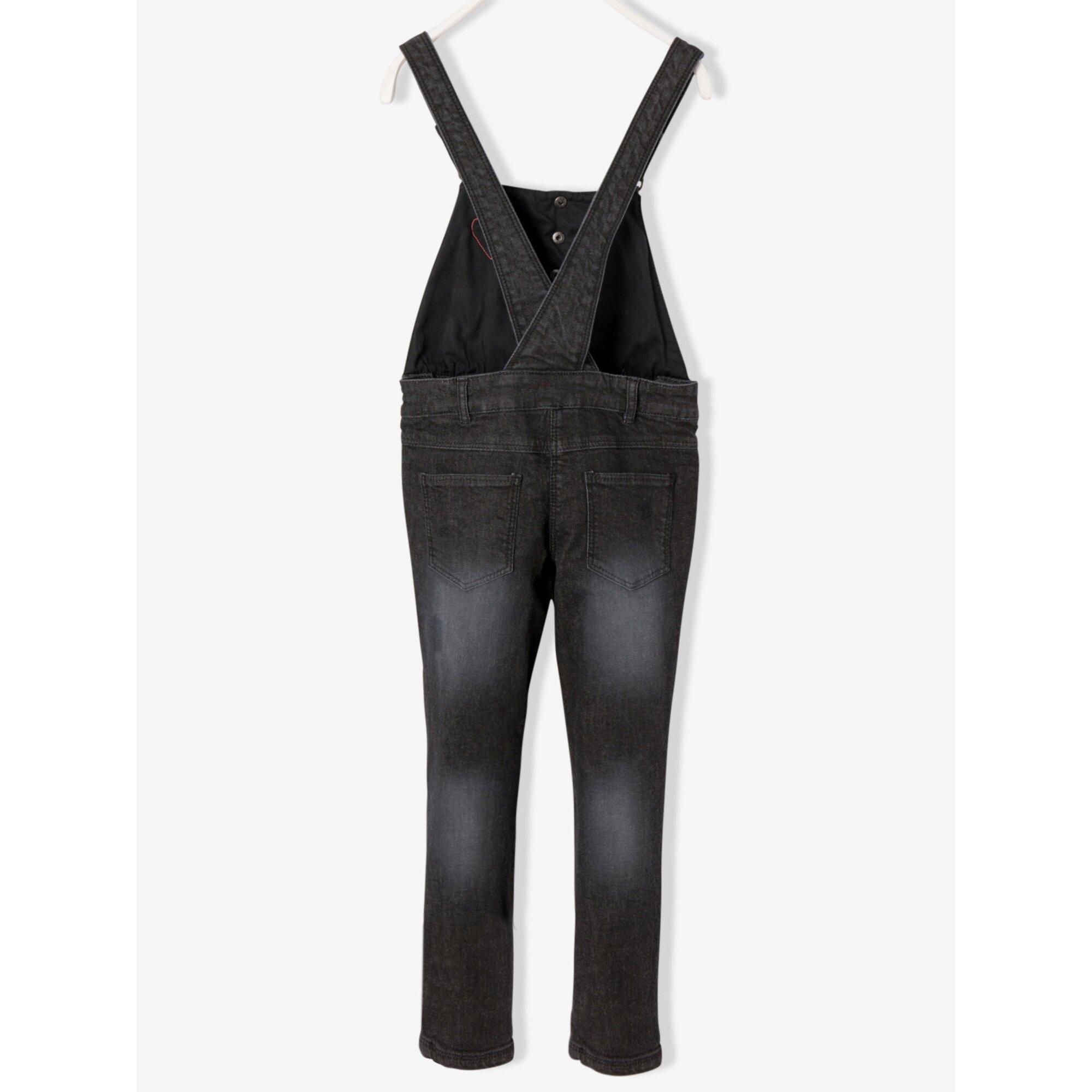 vertbaudet-jeans-latzhose-fur-madchen-stretch, 35.99 EUR @ babywalz-de