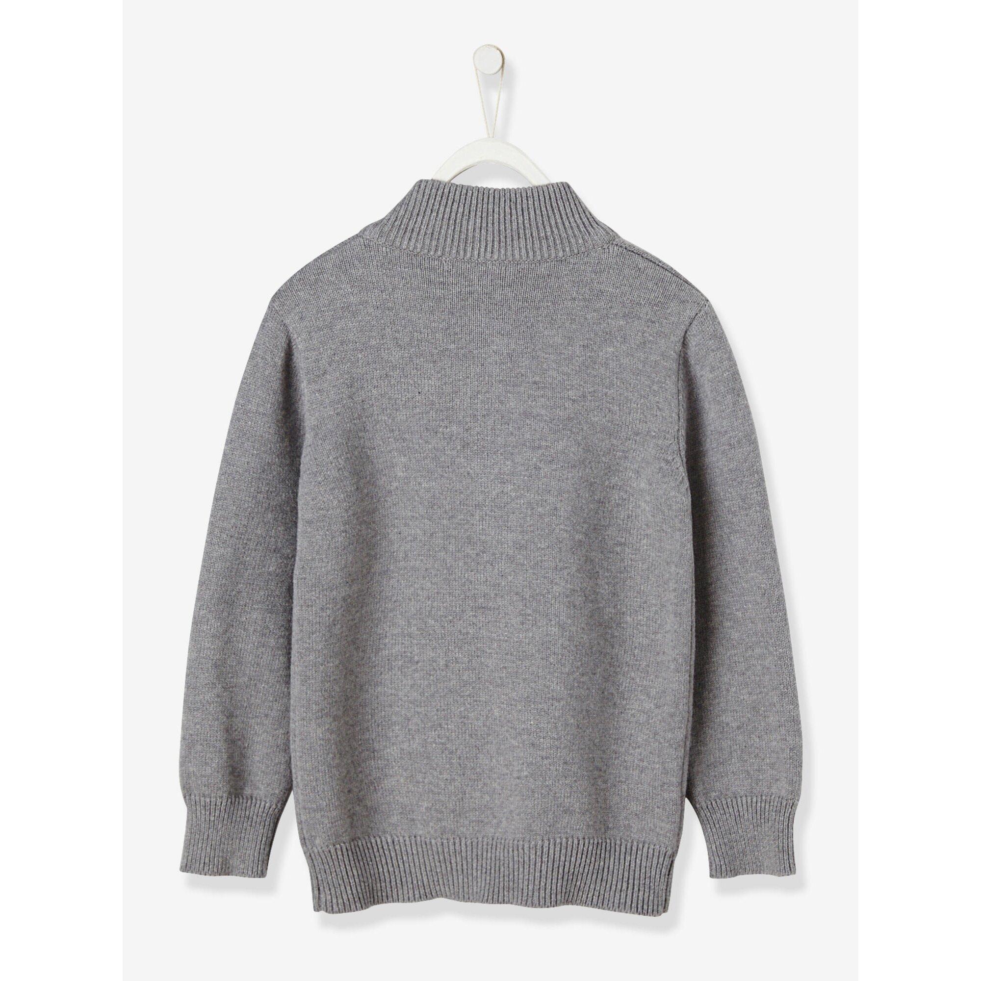 vertbaudet-jungen-pullover-mit-stehkragen