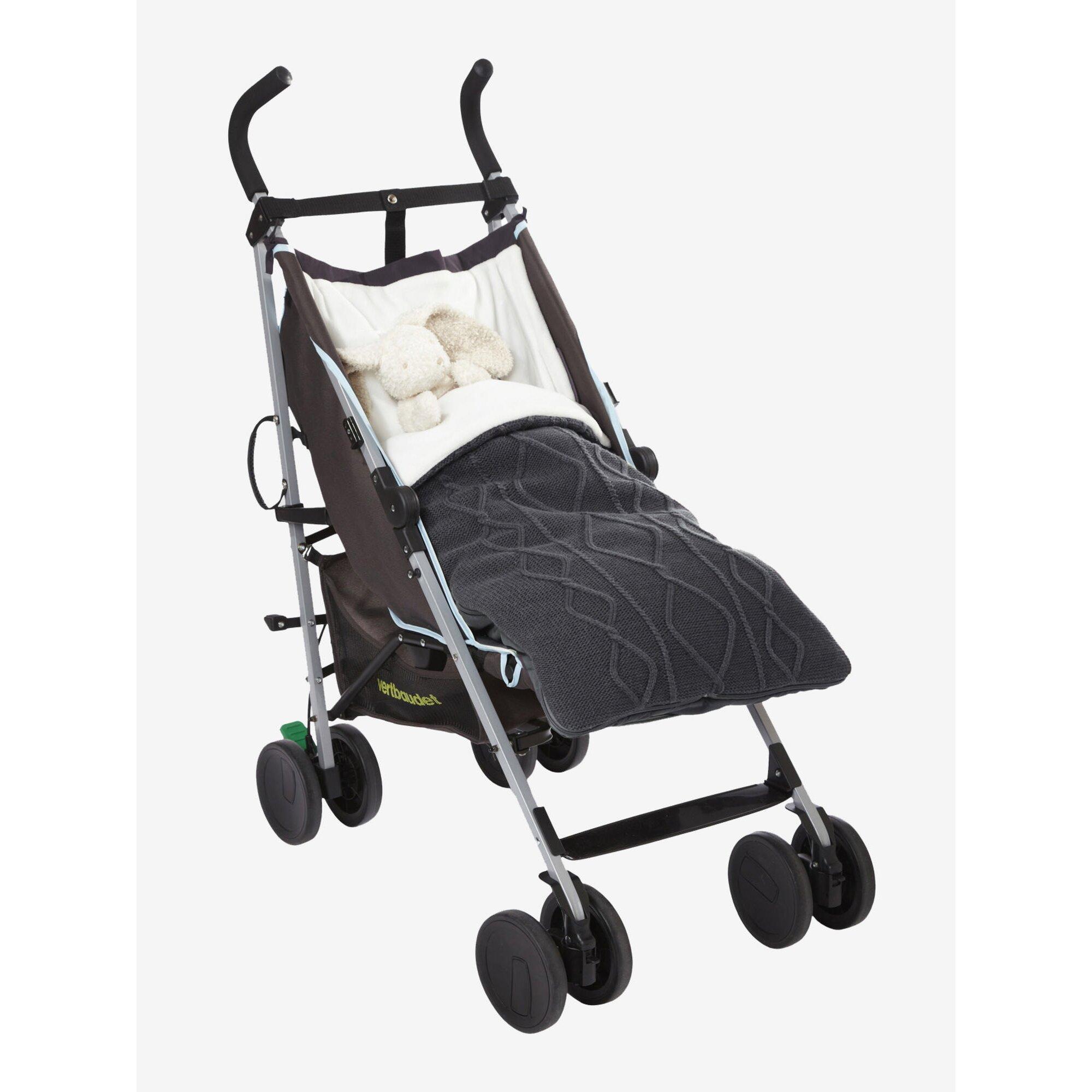 vertbaudet-buggy-fu-sack-fur-babys-zopfmuster-schwarz, 50.99 EUR @ babywalz-de
