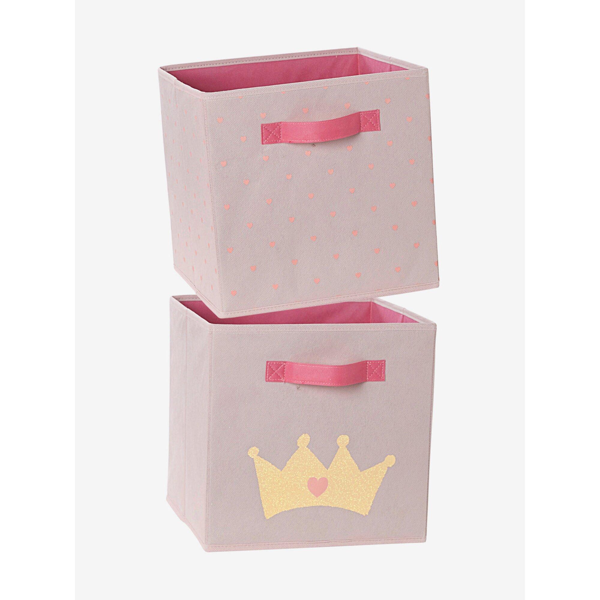 vertbaudet-2er-pack-spielzeugboxen-stoff, 15.99 EUR @ babywalz-de