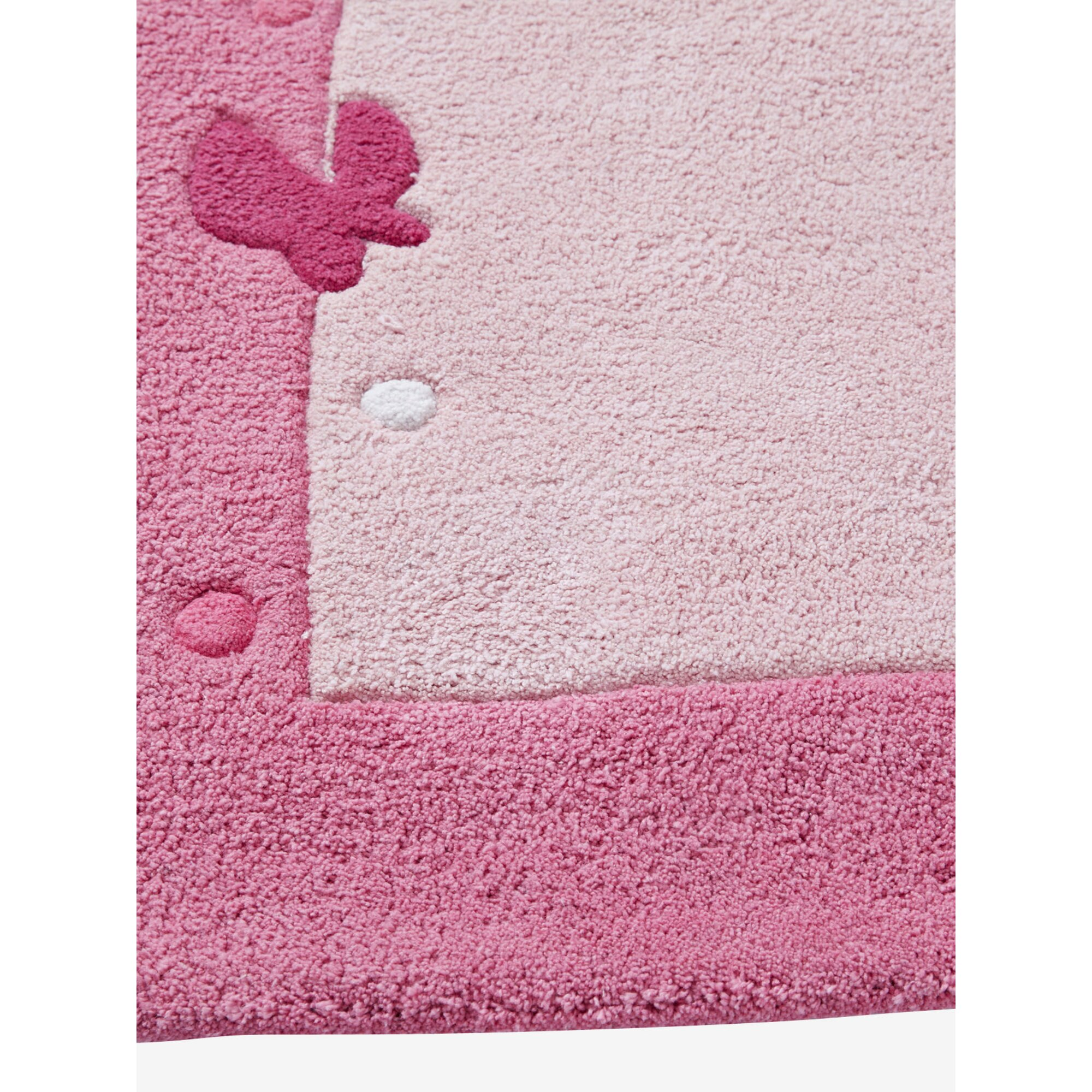vertbaudet-kinderzimmer-teppich-schmetterlinge-rosa