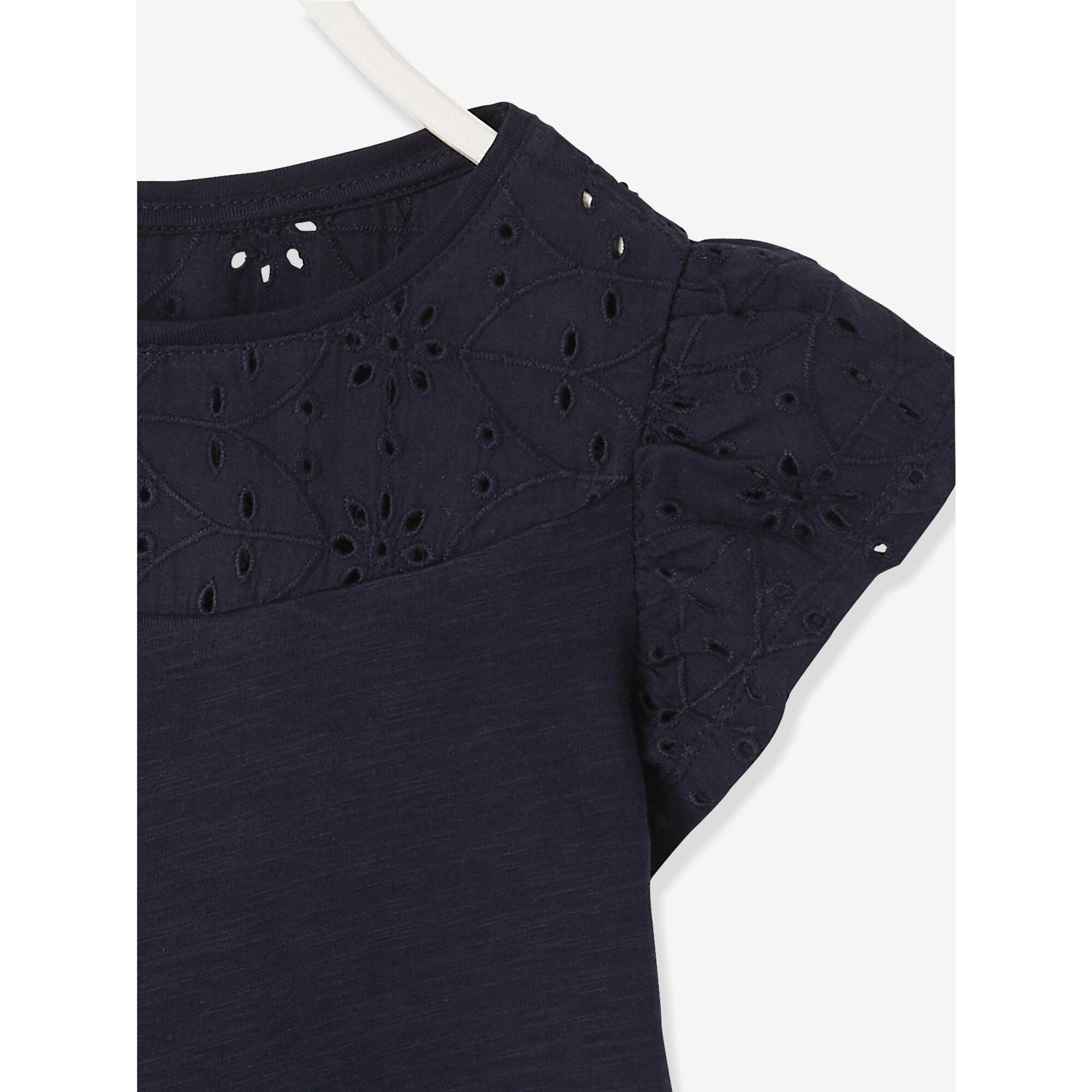 vertbaudet-t-shirt-mit-volantarmeln-und-lochstickerei