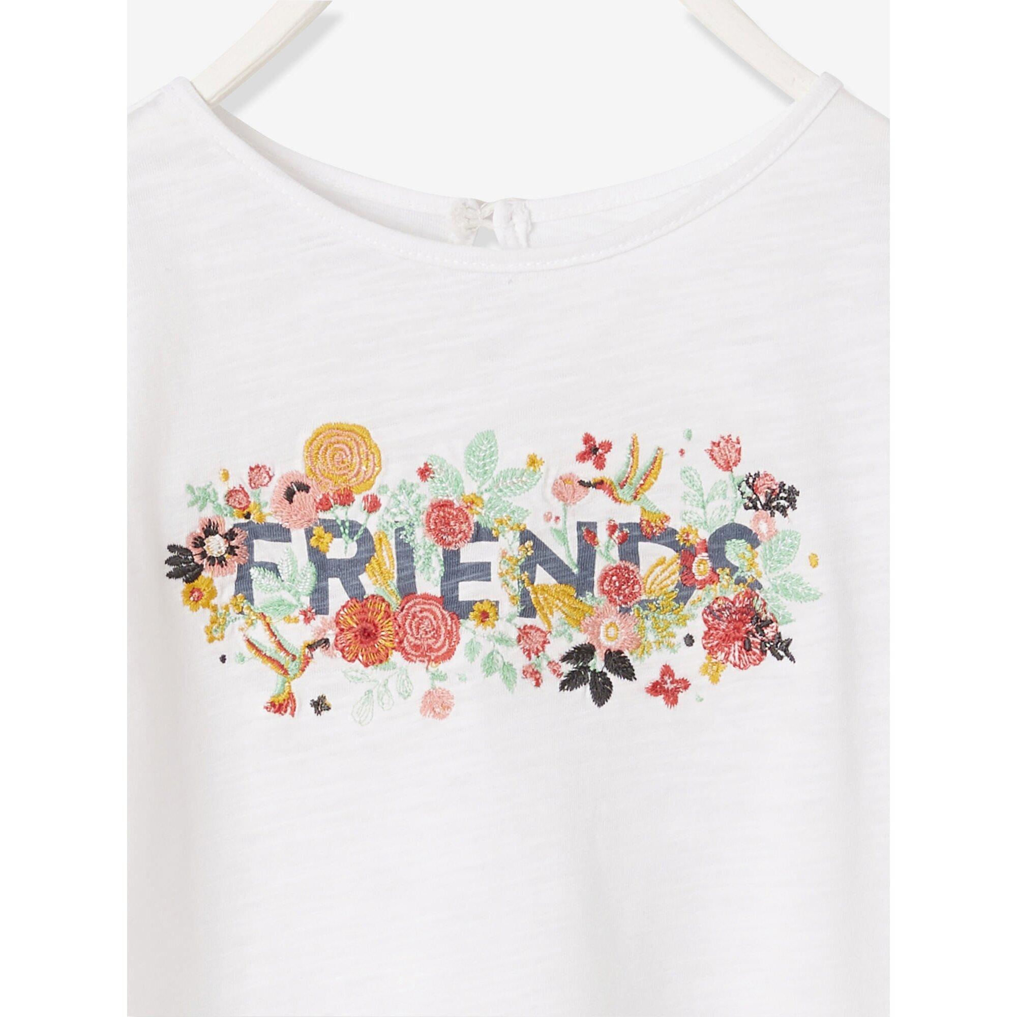 vertbaudet-madchen-t-shirt-mit-volantarmeln-bestickt