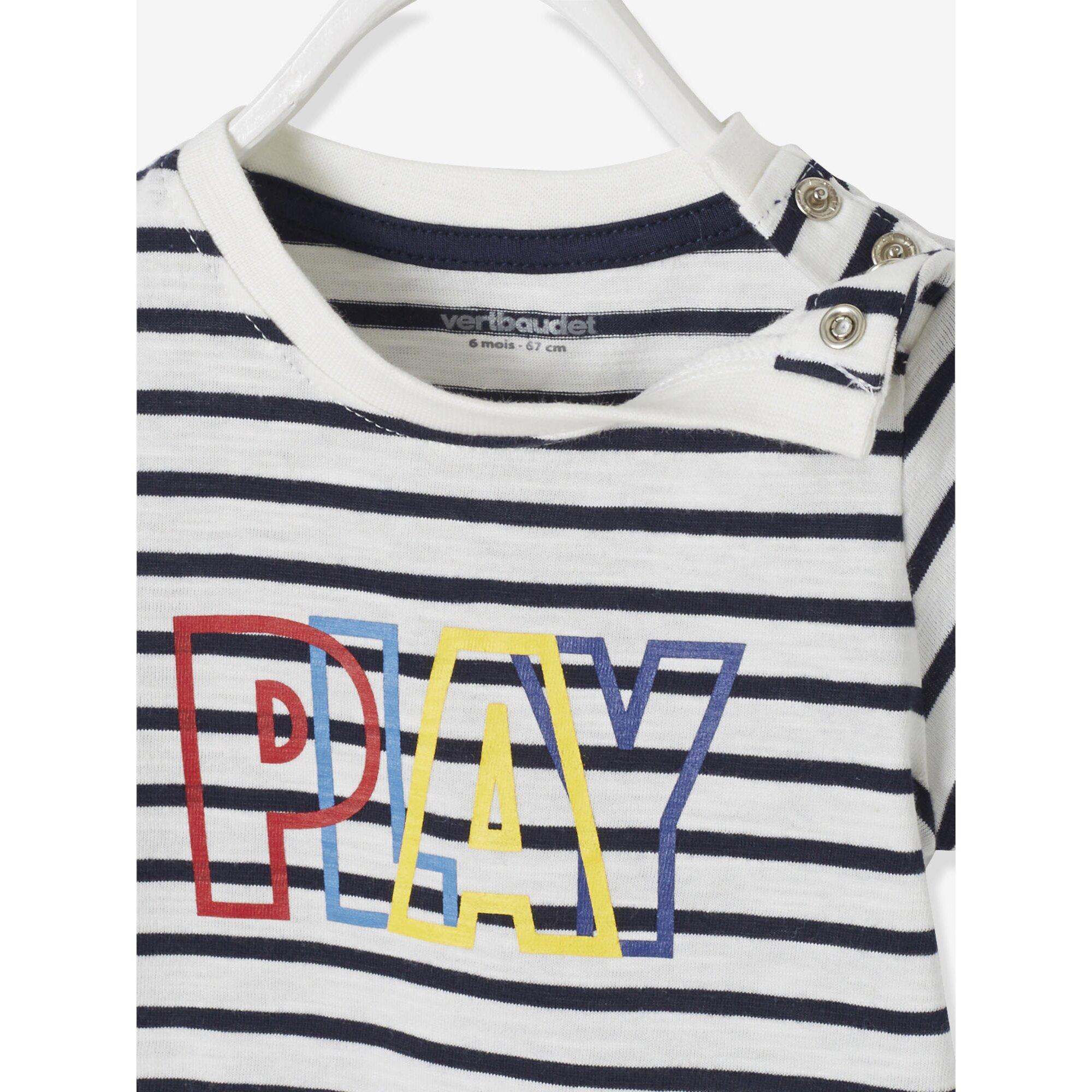vertbaudet-t-shirt-fur-baby-jungen-bedruckt, 5.59 EUR @ babywalz-de