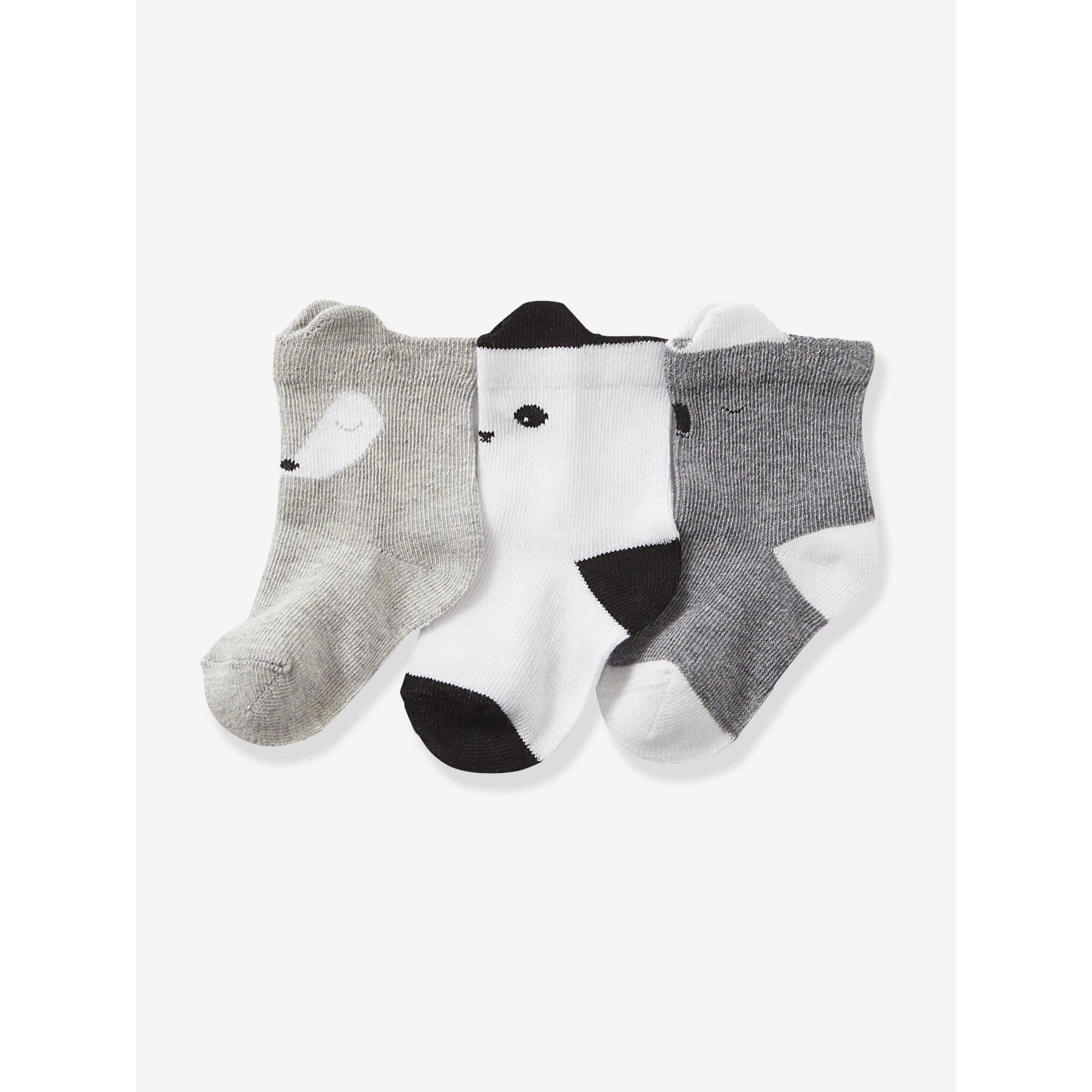 vertbaudet-3er-pack-socken-fur-babys-zebra-streifen