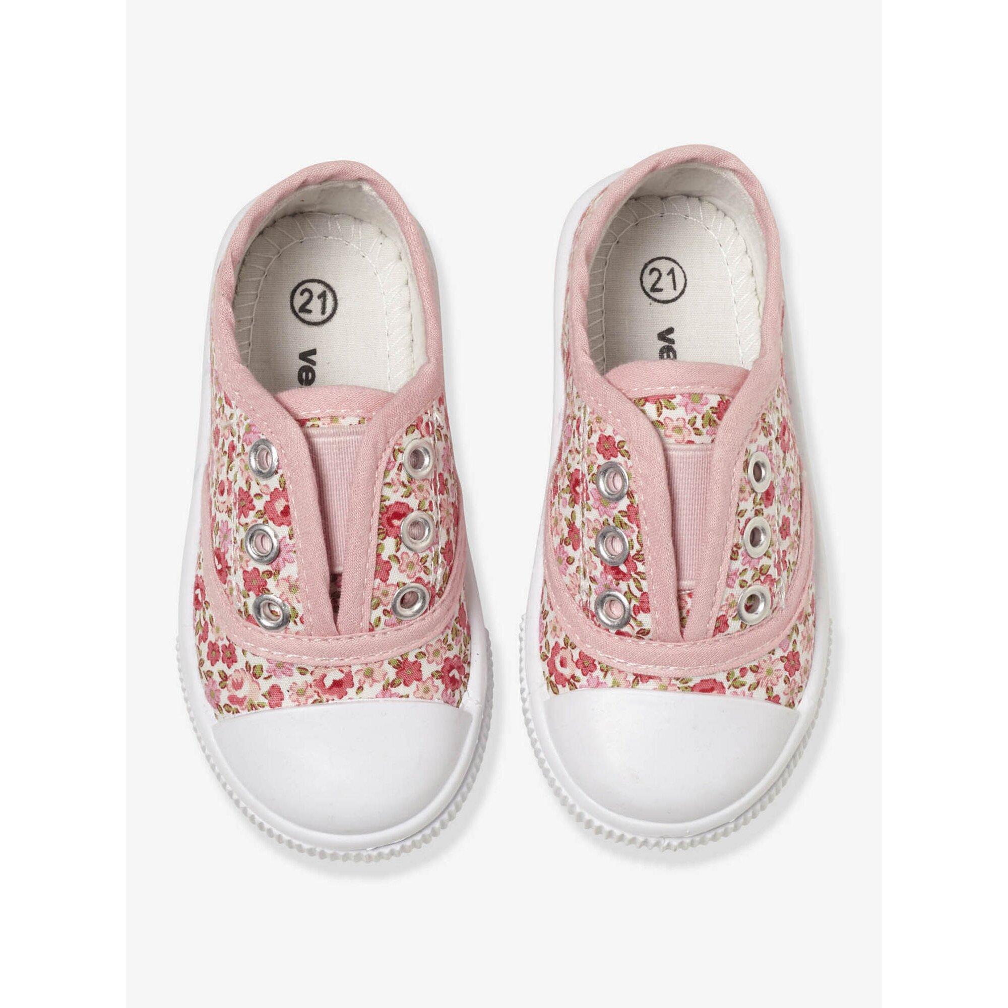 Vertbaudet Stoff-Sneakers für Mädchen