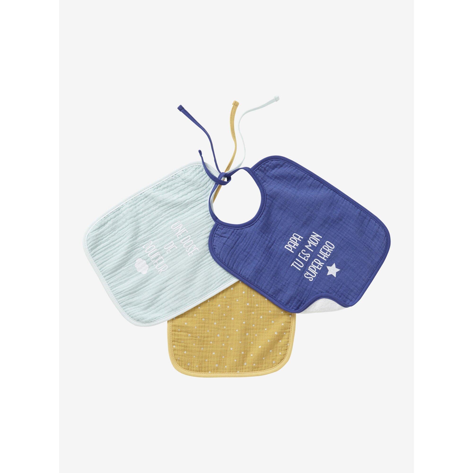 vertbaudet-3er-pack-baby-latzchen-aus-gaze