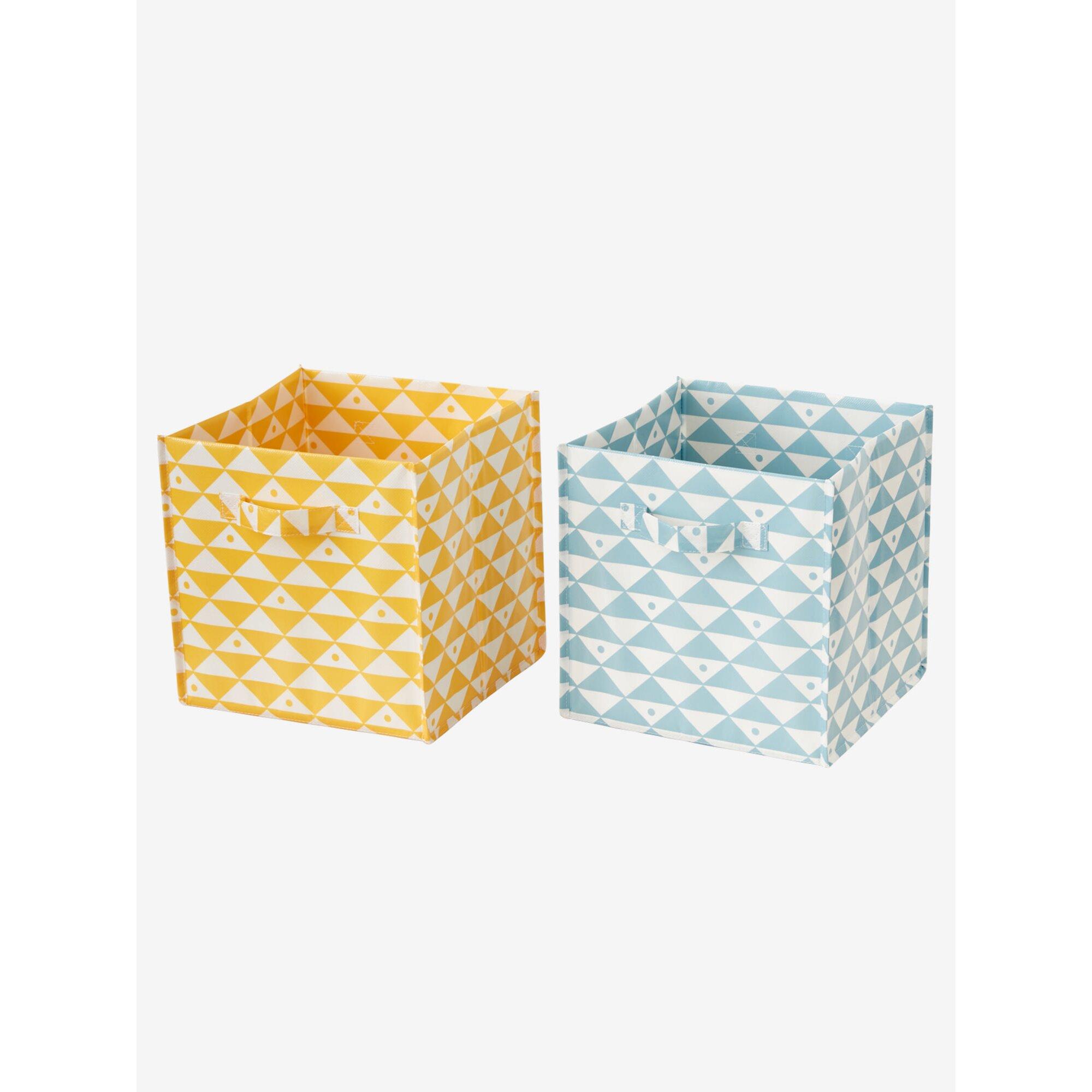vertbaudet-2er-pack-aufbewahrungsboxen-modern-gemustert