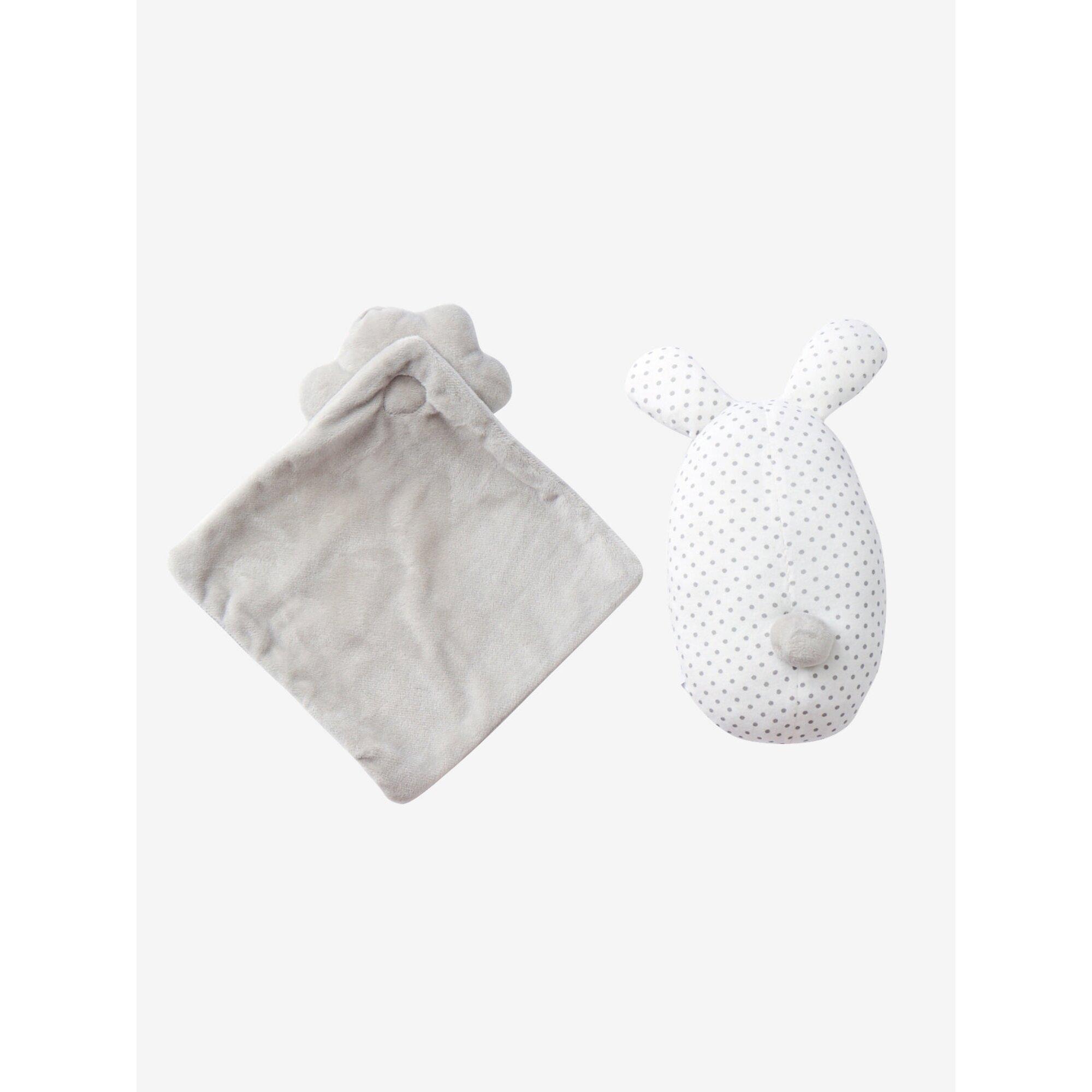 vertbaudet-baby-geschenk-set-schmusetuch-und-rassel, 17.99 EUR @ babywalz-de