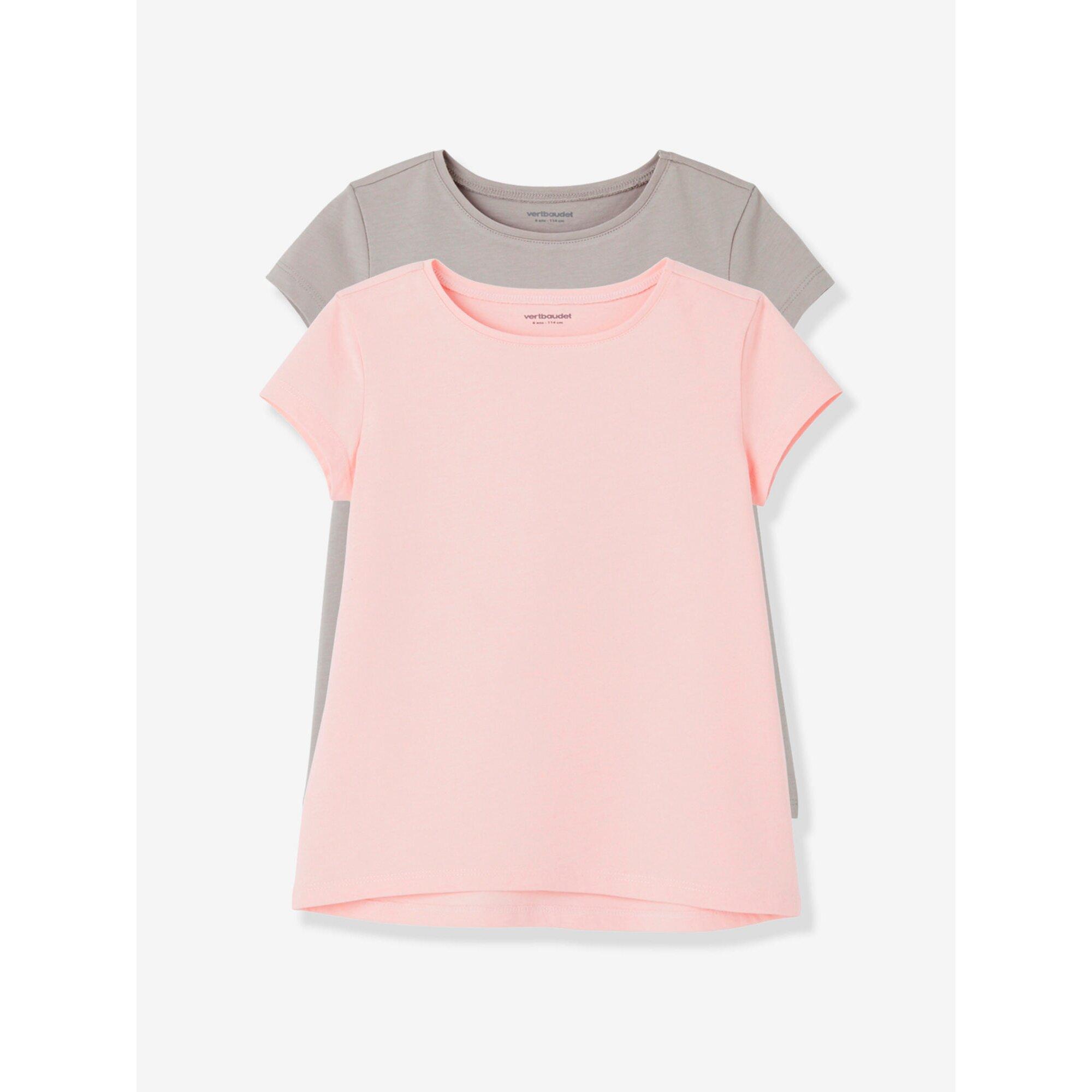 vertbaudet-2er-pack-t-shirts-fur-madchen-rundhals, 8.99 EUR @ babywalz-de