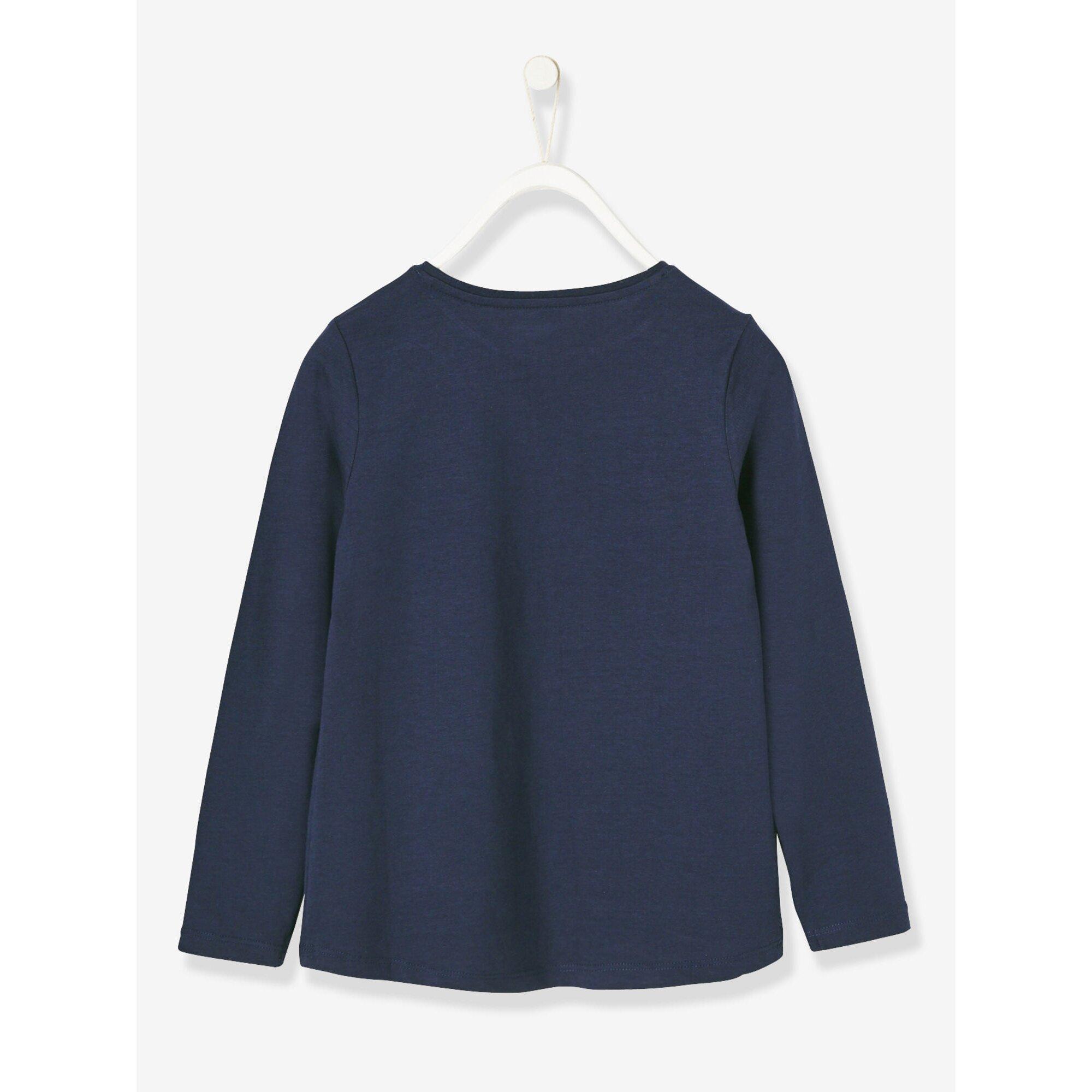 vertbaudet-shirt-fur-madchen-glitzerprint, 8.99 EUR @ babywalz-de