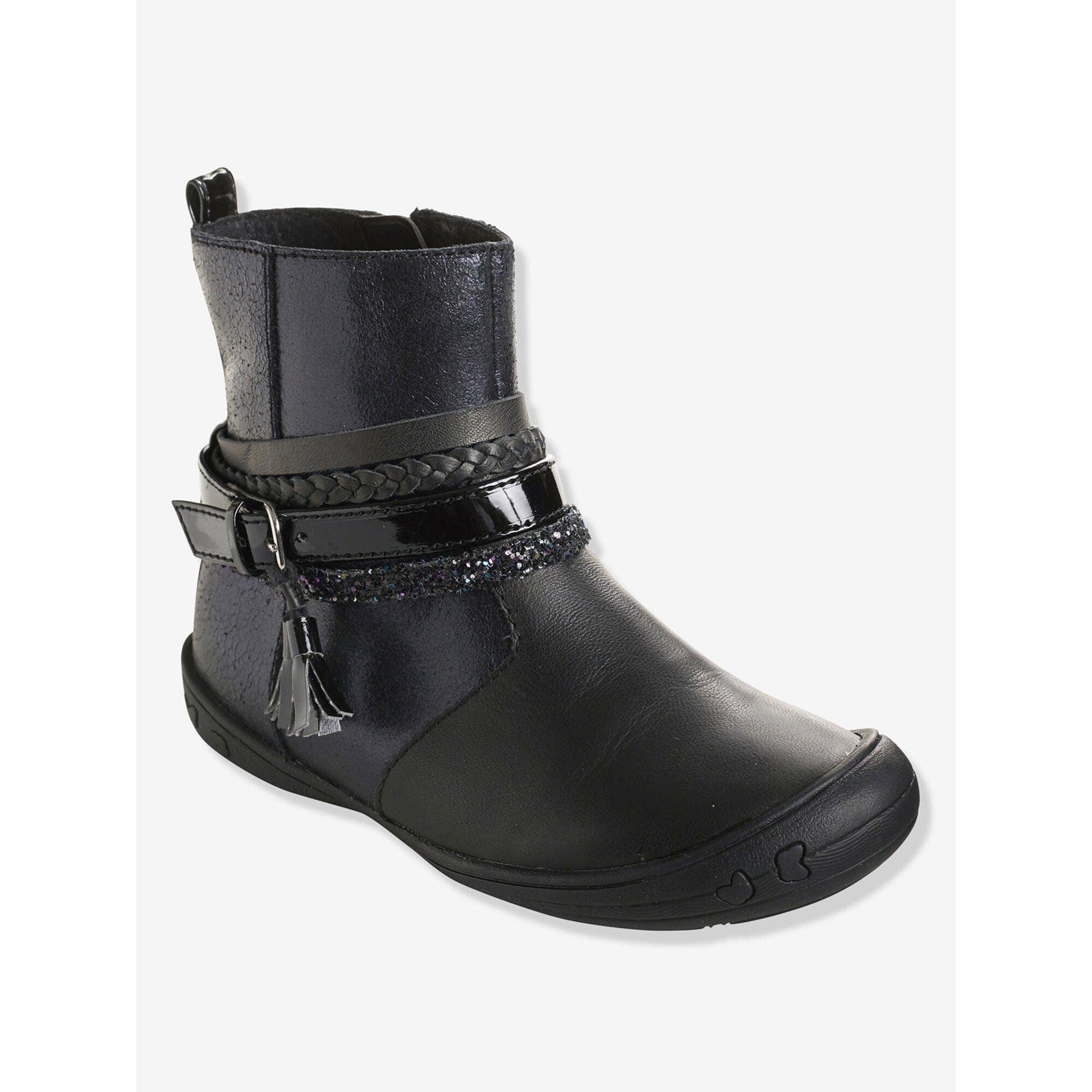 vertbaudet-leder-boots-fur-madchen-gummisohle, 65.99 EUR @ babywalz-de