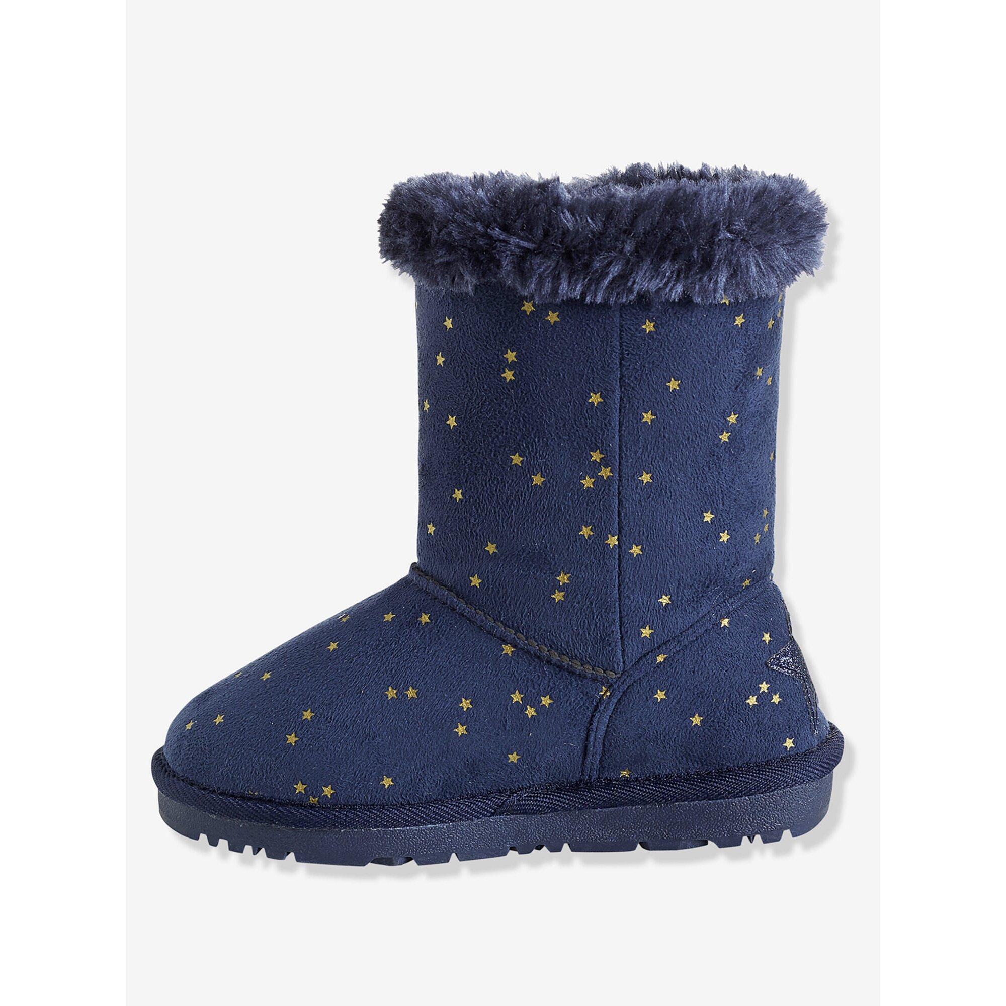 vertbaudet-winterstiefel-fur-madchen-velours, 30.99 EUR @ babywalz-de
