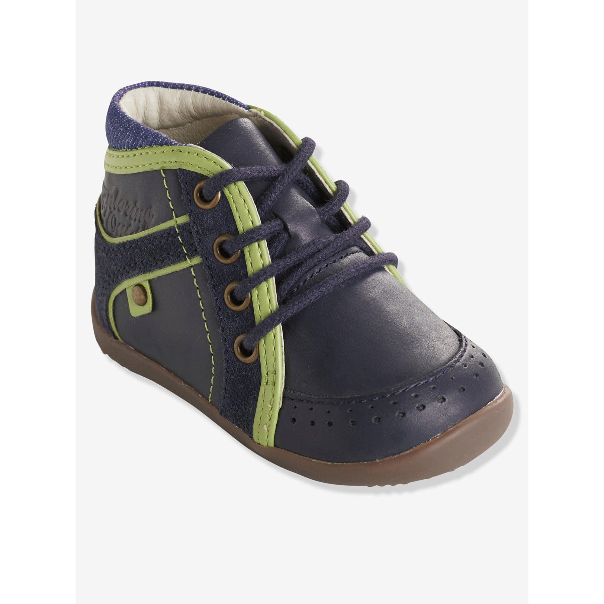 vertbaudet-leder-boots-fur-jungen-lauflernschuhe, 50.99 EUR @ babywalz-de