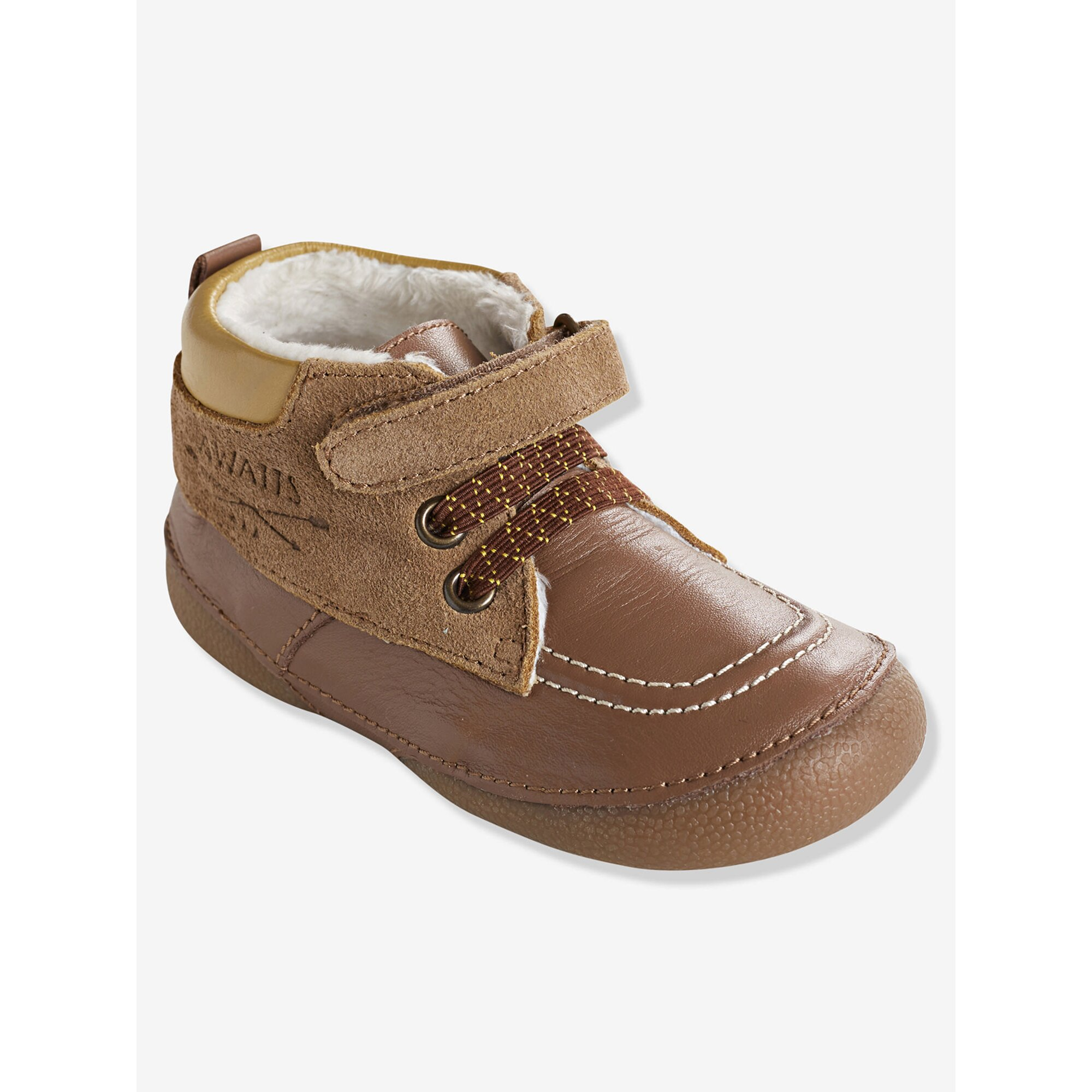 vertbaudet-lauflern-boots-fur-babys-gefuttert, 35.99 EUR @ babywalz-de