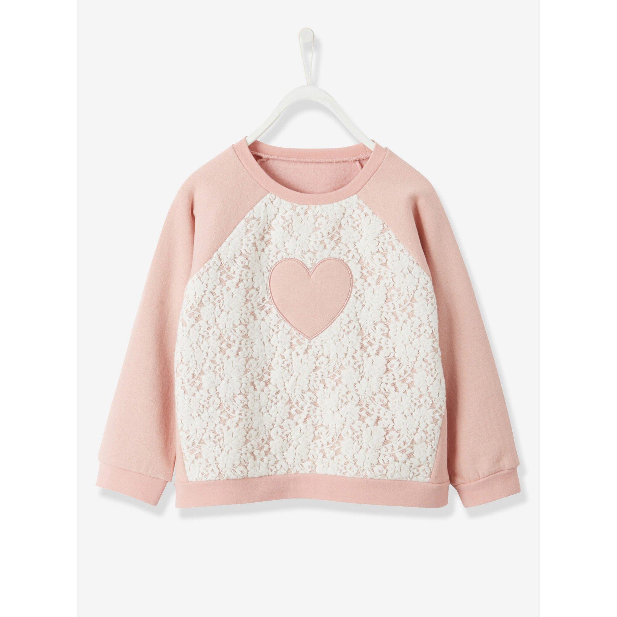 vertbaudet-madchensweatshirt-mit-spitze-rosa-g192, 20.99 EUR @ babywalz-de