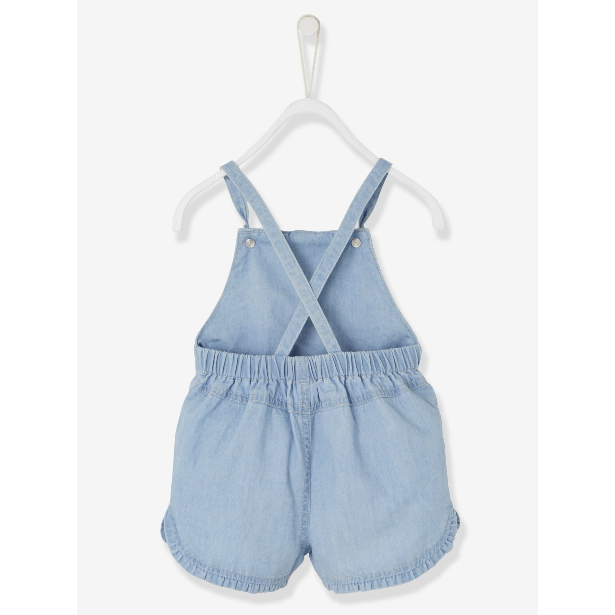 vertbaudet-latz-shorts-fur-baby-madchen-denim, 17.99 EUR @ babywalz-de