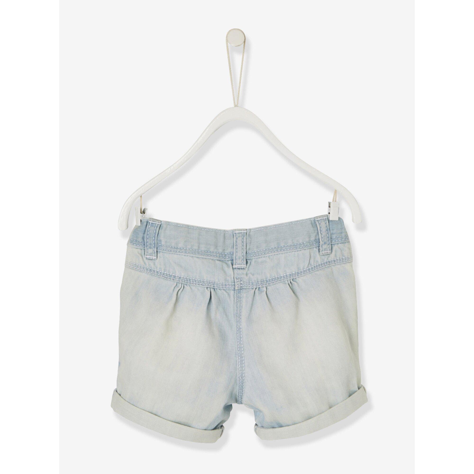 vertbaudet-jeans-shorts-fur-baby-madchen, 7.79 EUR @ babywalz-de