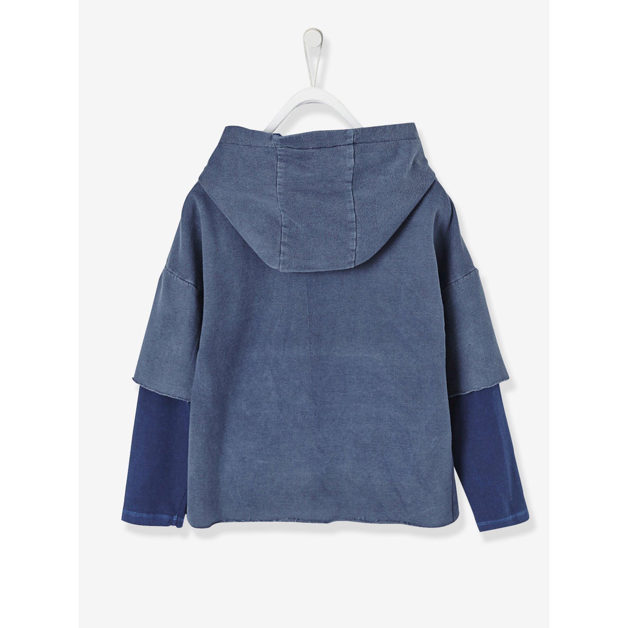 vertbaudet-jungen-kapuzensweatshirt-lageneffekt, 18.99 EUR @ babywalz-de